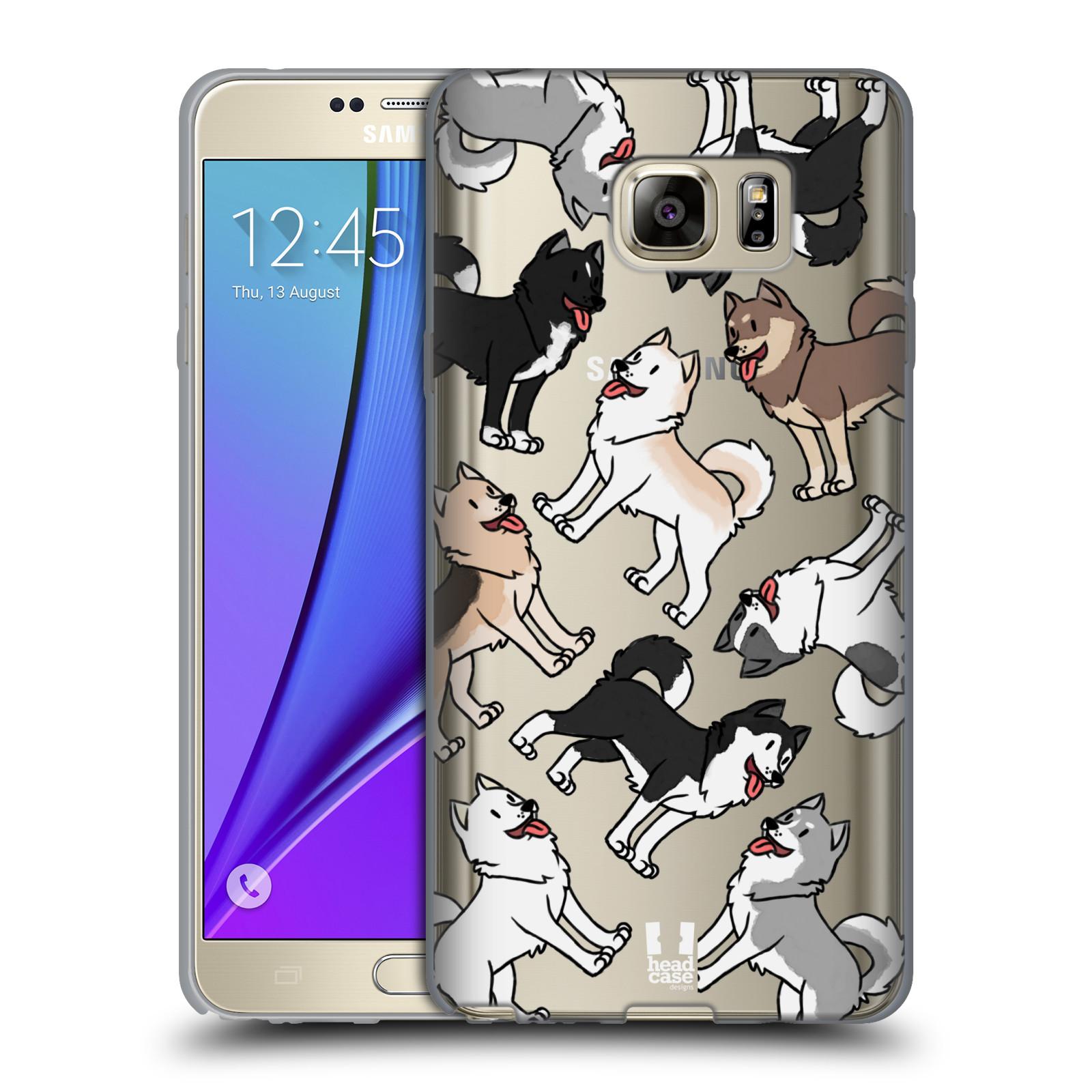 HEAD CASE silikonový obal na mobil Samsung Galaxy Note 5 pejsek Sibiřský husky