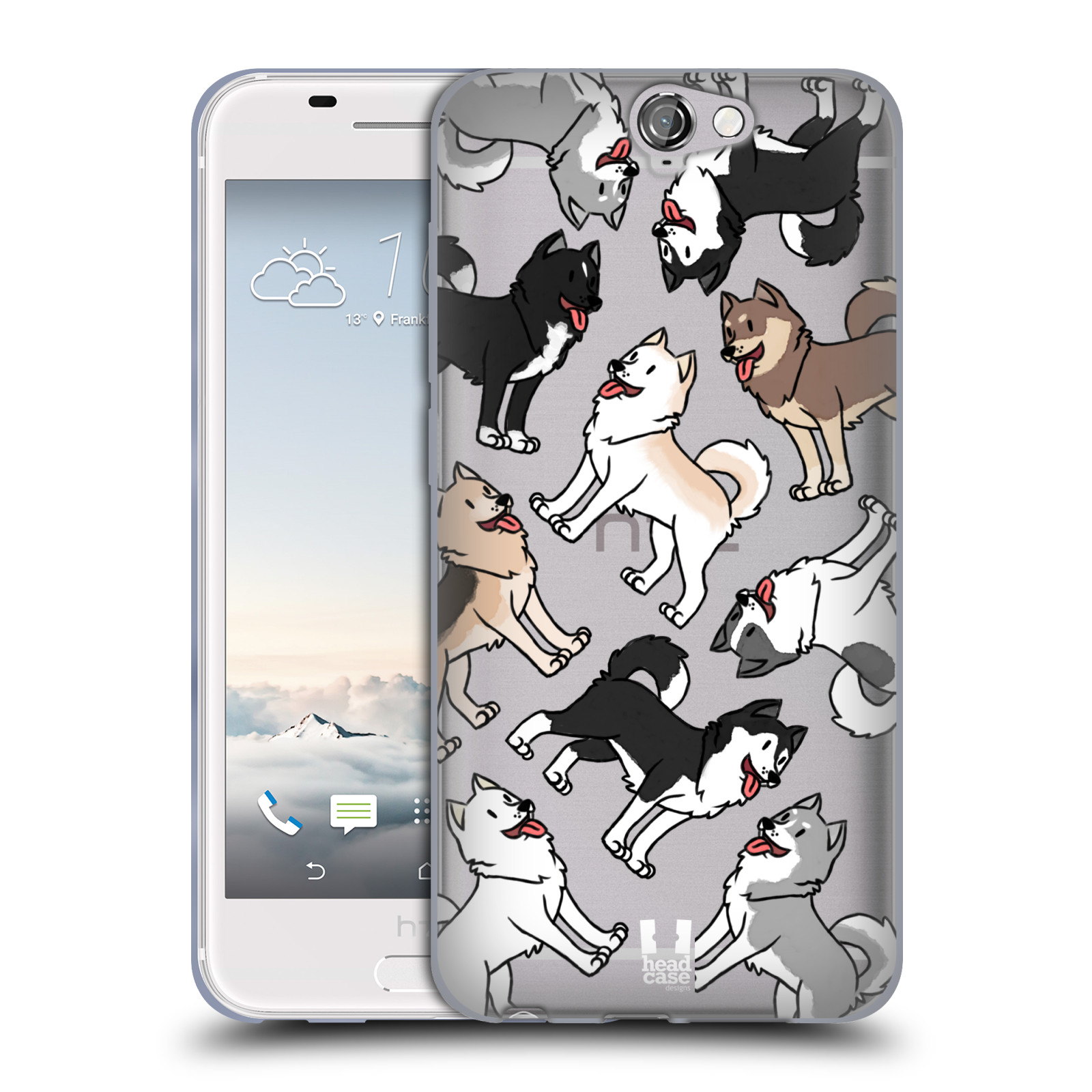 HEAD CASE silikonový obal na mobil HTC One A9 pejsek Sibiřský husky