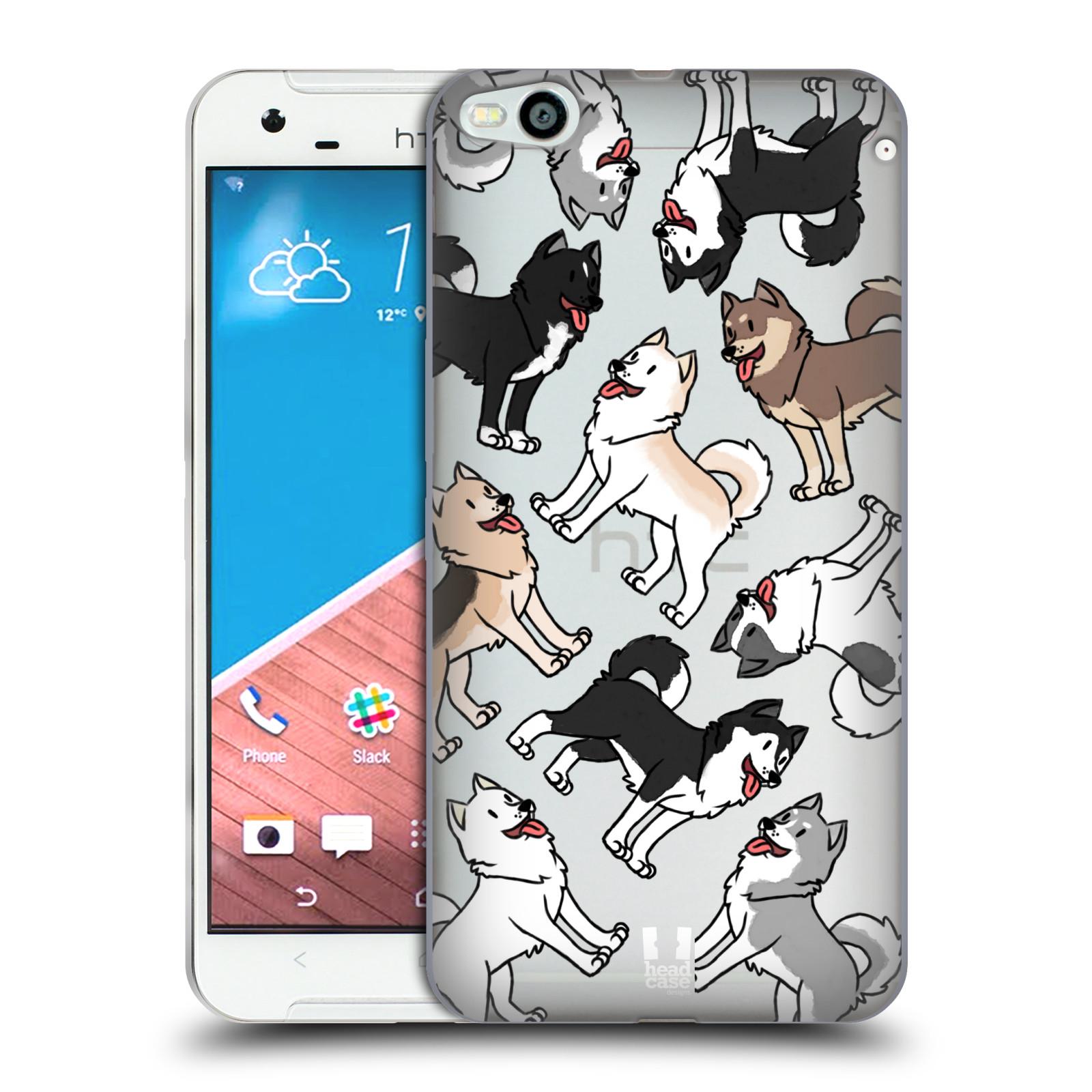 HEAD CASE silikonový obal na mobil HTC One X9 pejsek Sibiřský husky