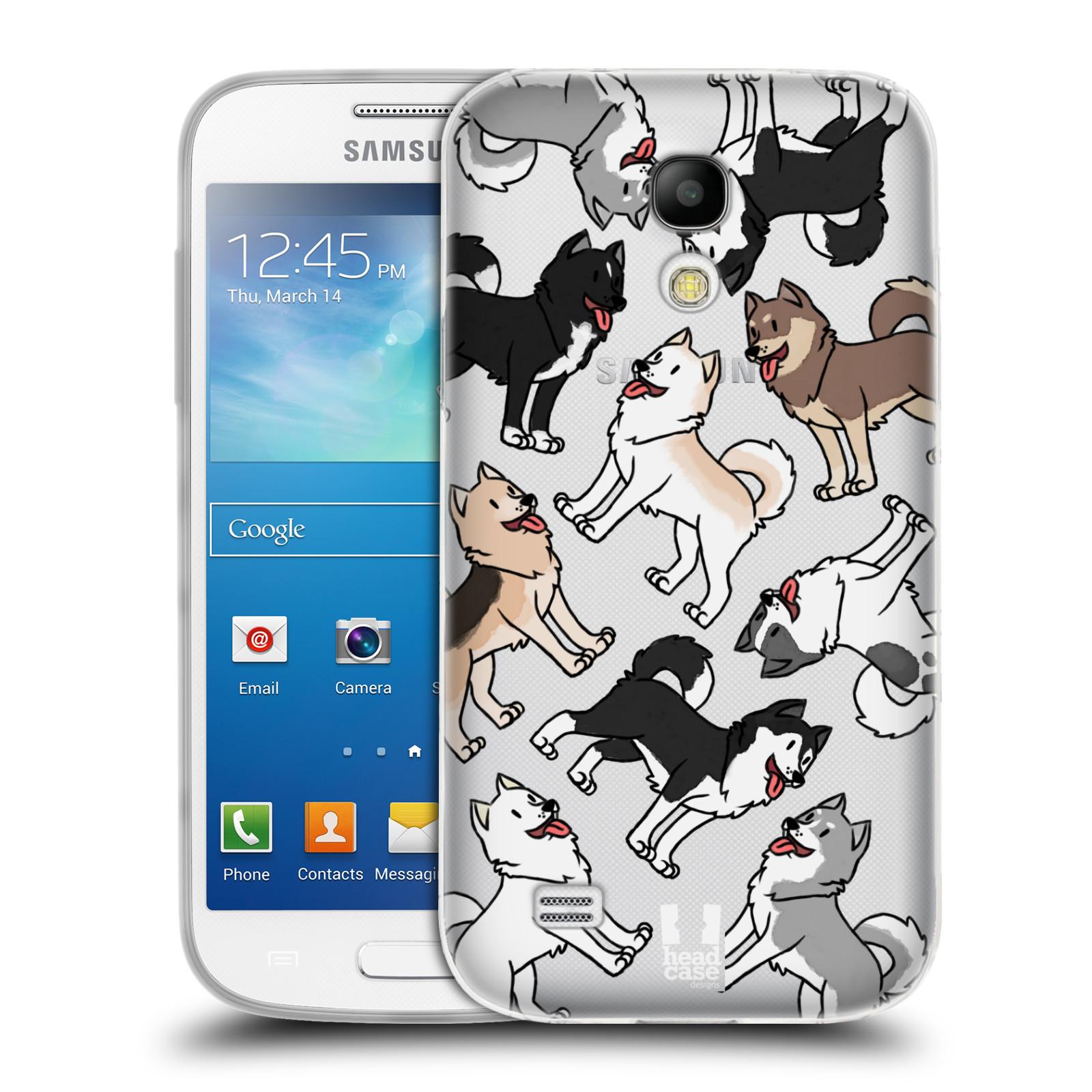 HEAD CASE silikonový obal na mobil Samsung Galaxy S4 MINI pejsek Sibiřský husky