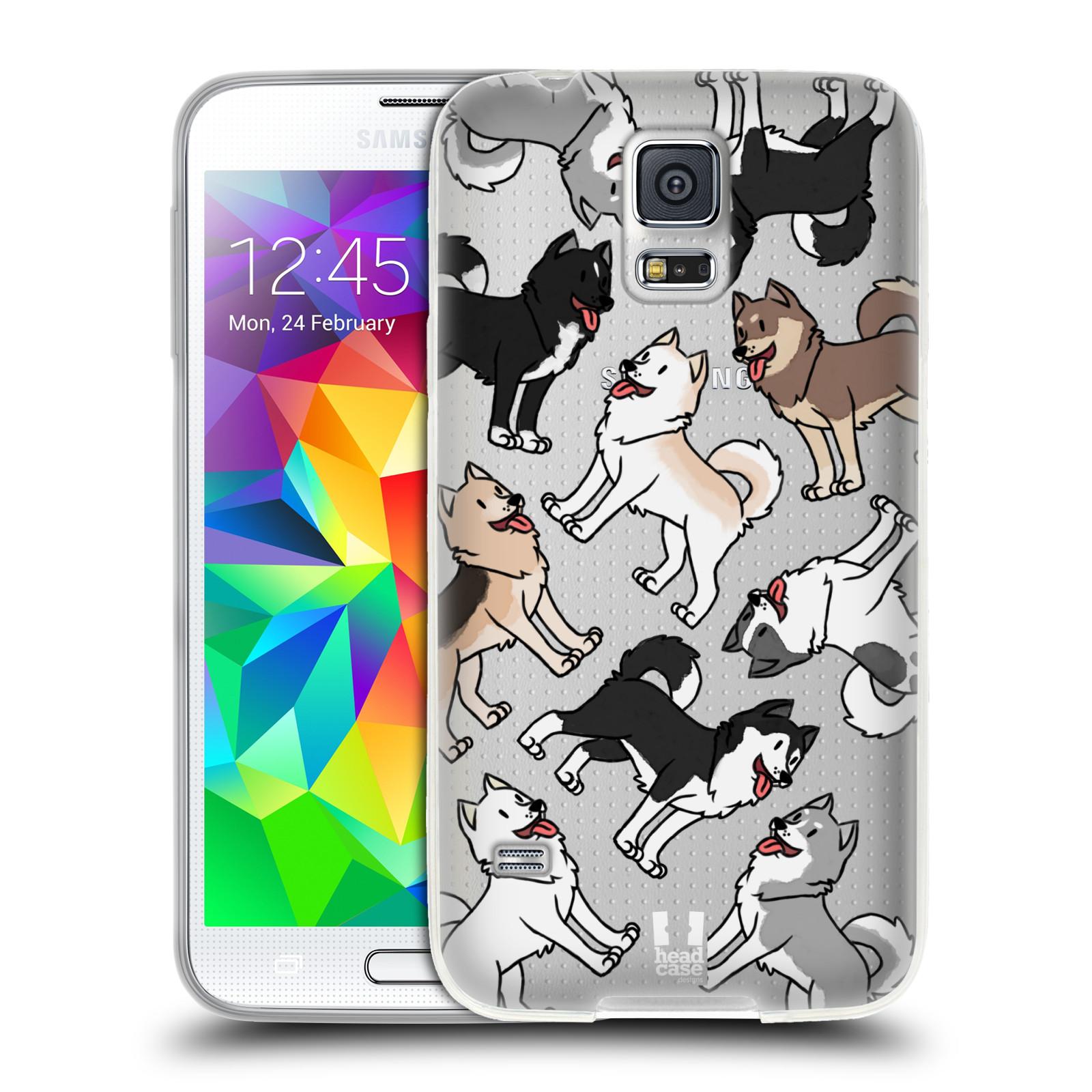 HEAD CASE silikonový obal na mobil Samsung Galaxy S5 pejsek Sibiřský husky