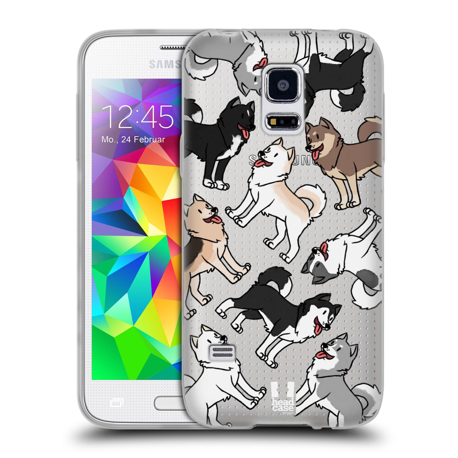 HEAD CASE silikonový obal na mobil Samsung Galaxy S5 MINI pejsek Sibiřský husky