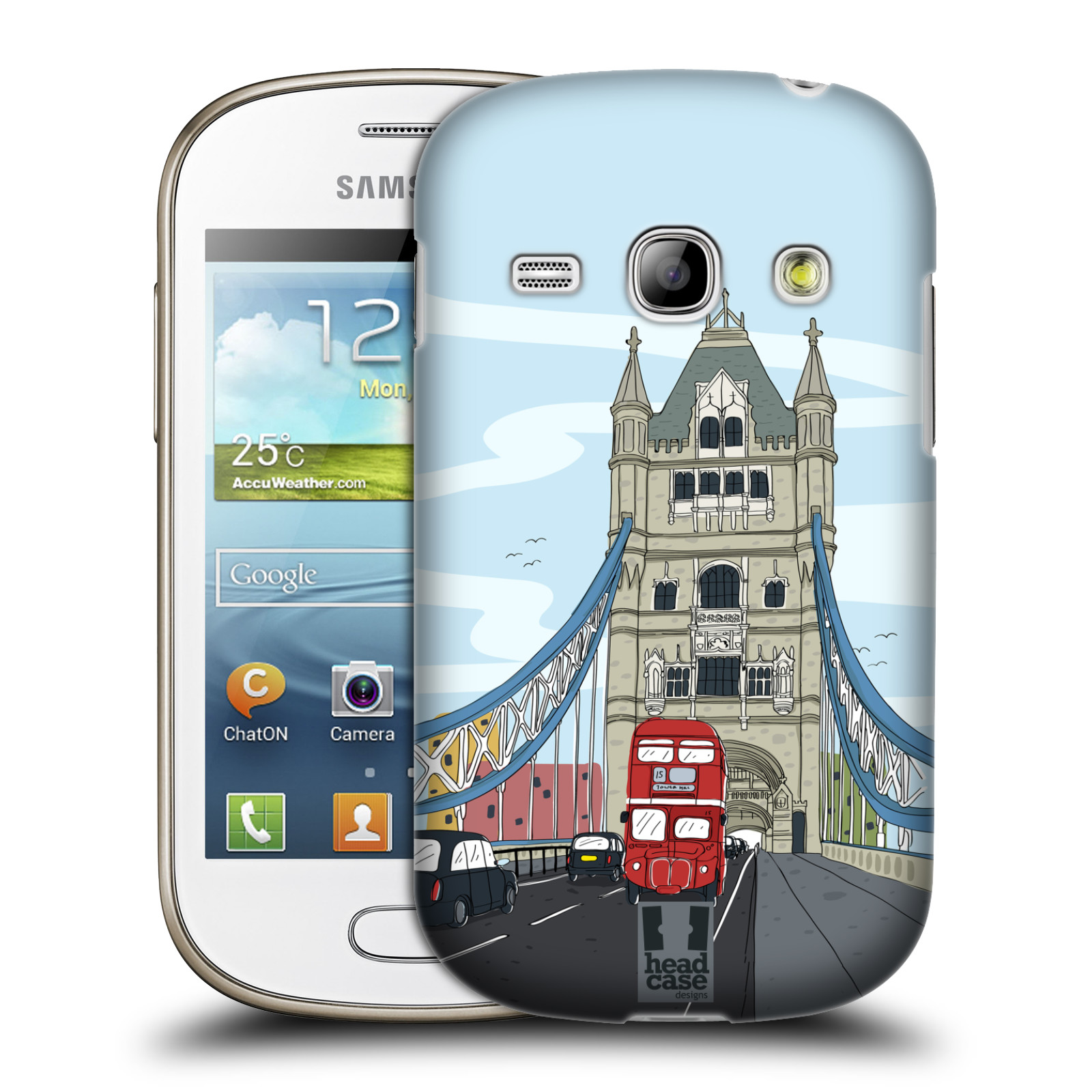 HEAD CASE DESIGNS DOODLE CITIES SERIES 2 CASE FOR SAMSUNG GALAXY FAME S6810
