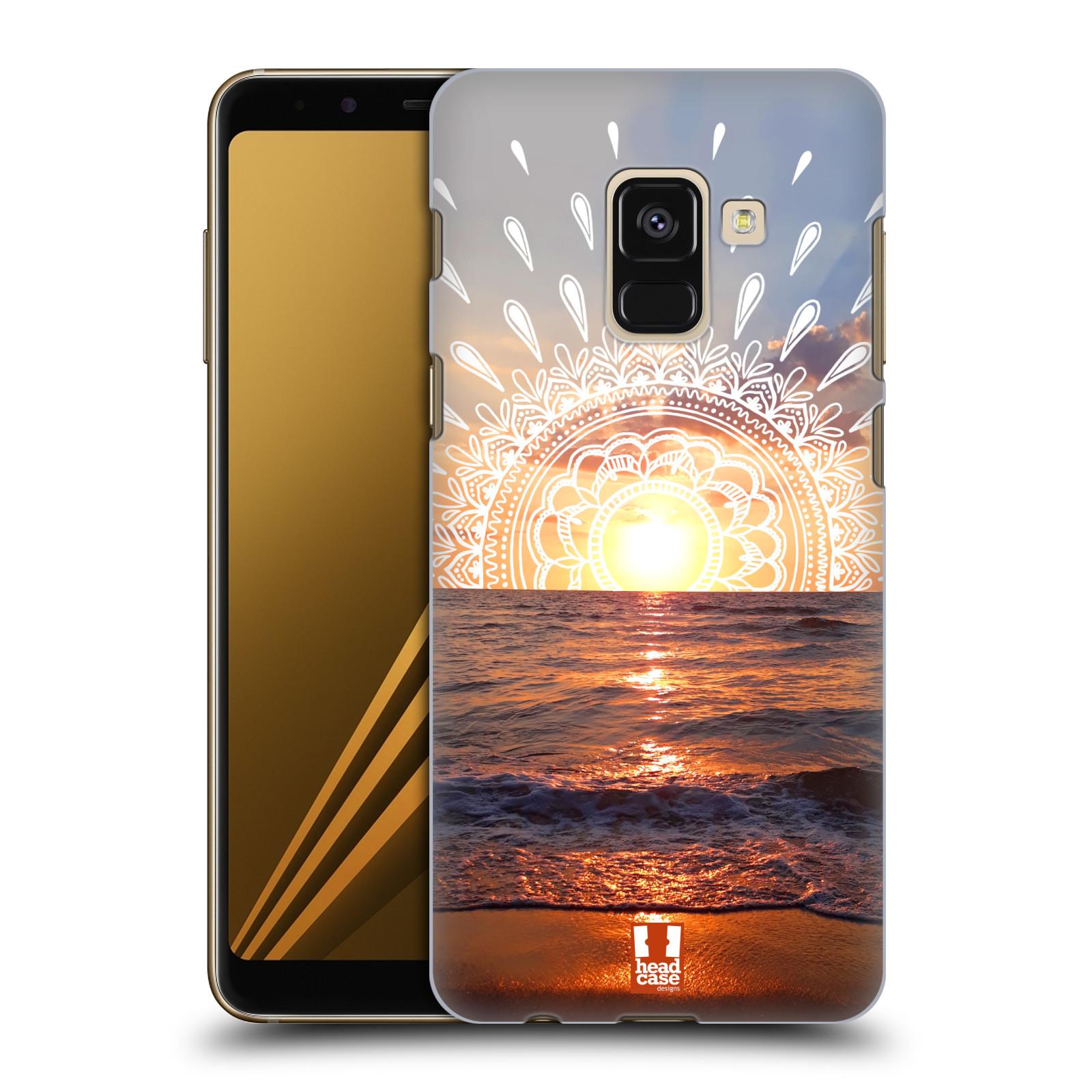 Pouzdro na mobil Samsung Galaxy A8+ 2018, A8 PLUS 2018 - HEAD CASE - doodle západ slunce