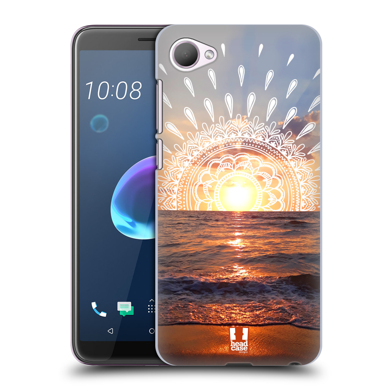 Pouzdro na mobil HTC Desire 12 / Desire 12 DUAL SIM - HEAD CASE - doodle západ slunce