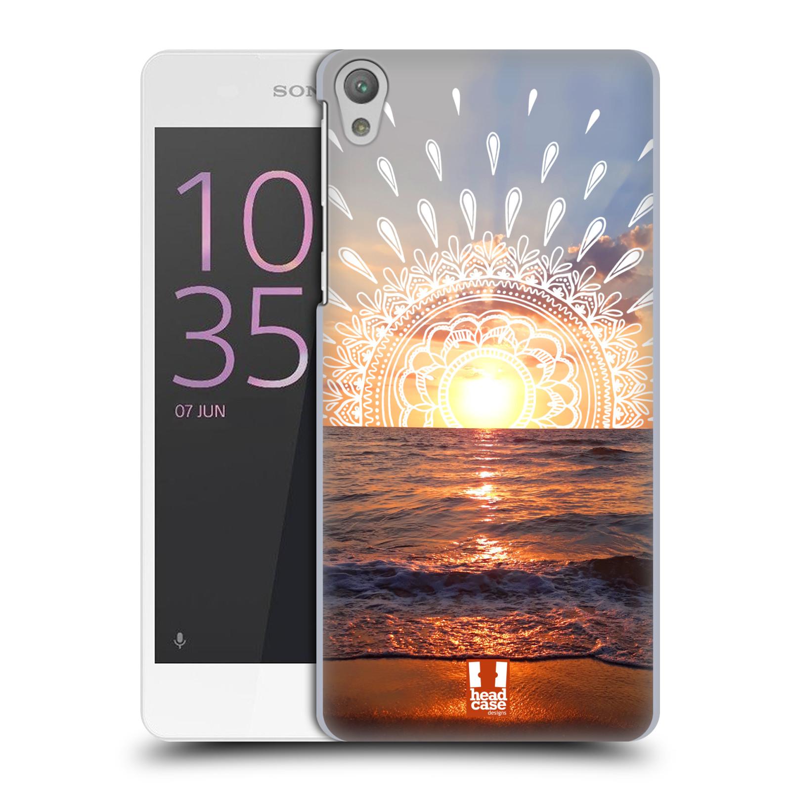 Pouzdro na mobil Sony Xperia E5 - HEAD CASE - doodle západ slunce