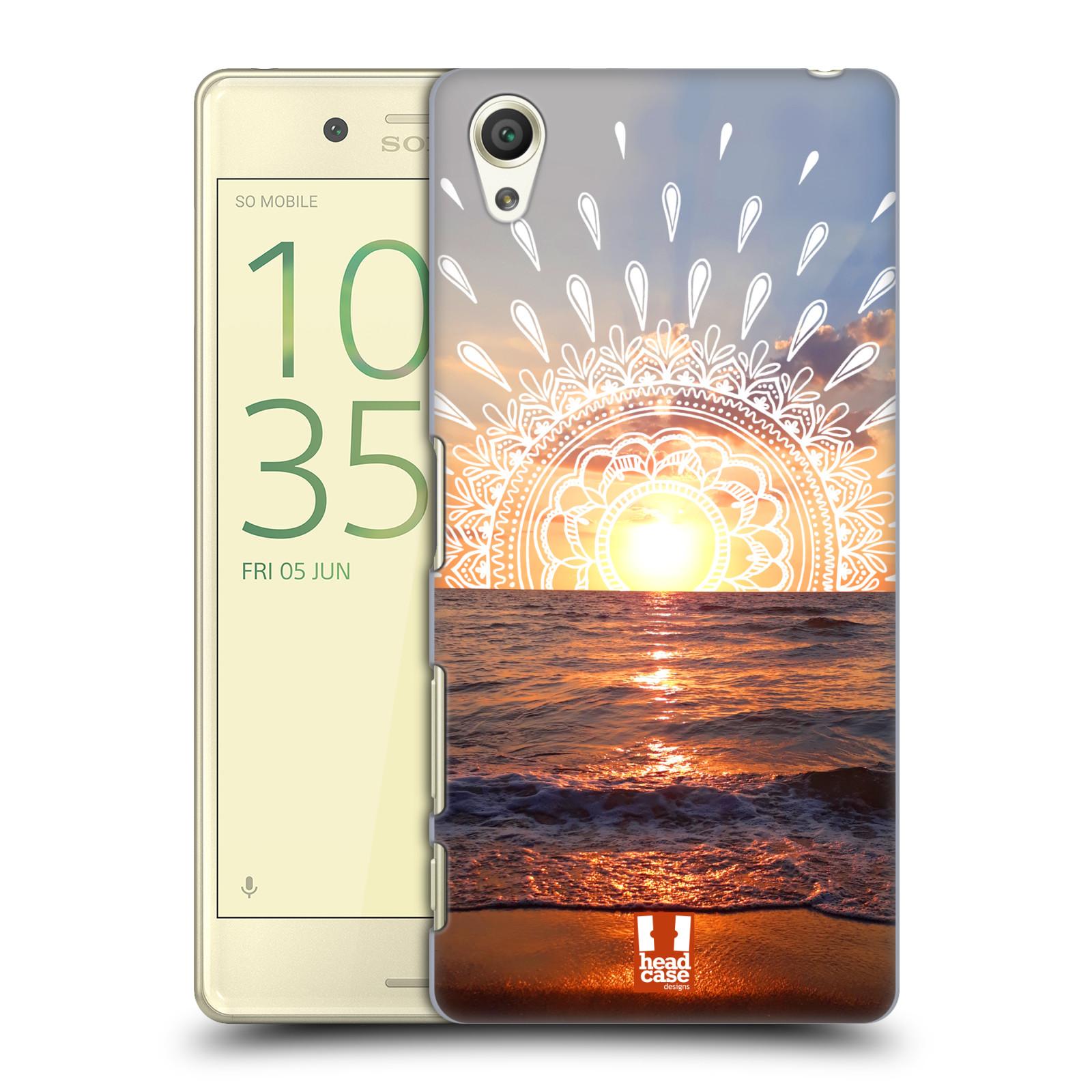 Pouzdro na mobil Sony Xperia X - HEAD CASE - doodle západ slunce