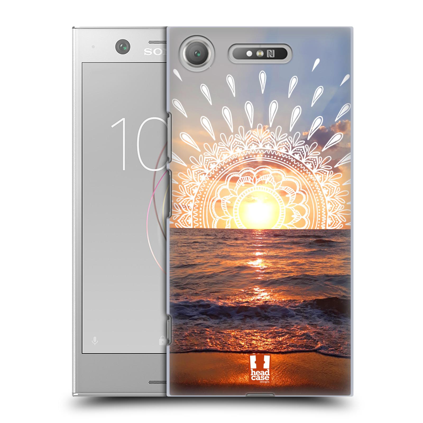 Pouzdro na mobil Sony Xperia XZ1 - HEAD CASE - doodle západ slunce