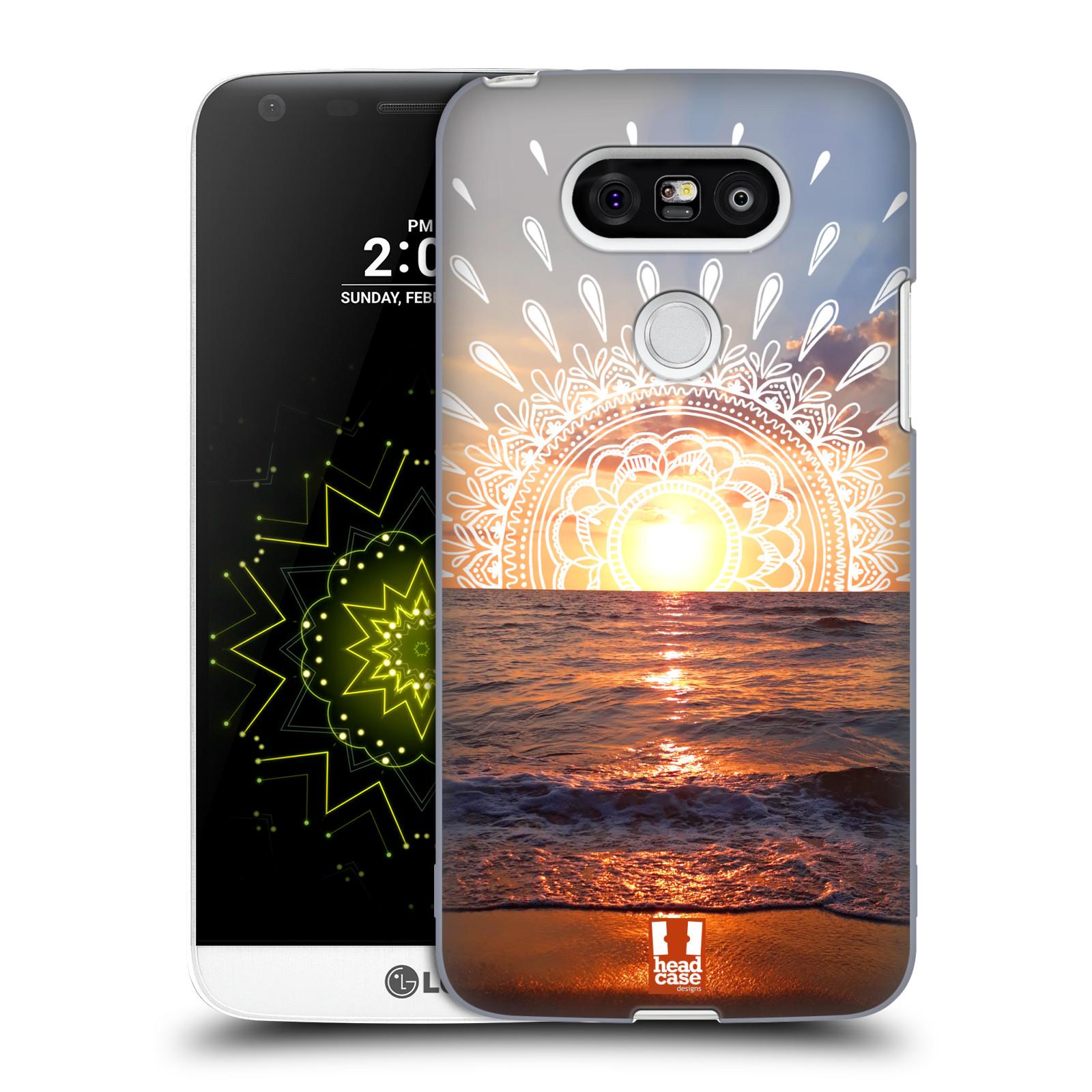 Pouzdro na mobil LG G5 - HEAD CASE - doodle západ slunce