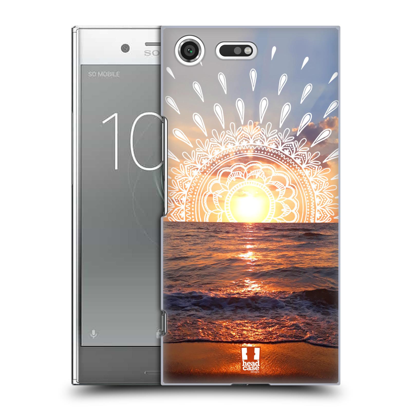 Pouzdro na mobil Sony Xperia XZ PREMIUM - HEAD CASE - doodle západ slunce