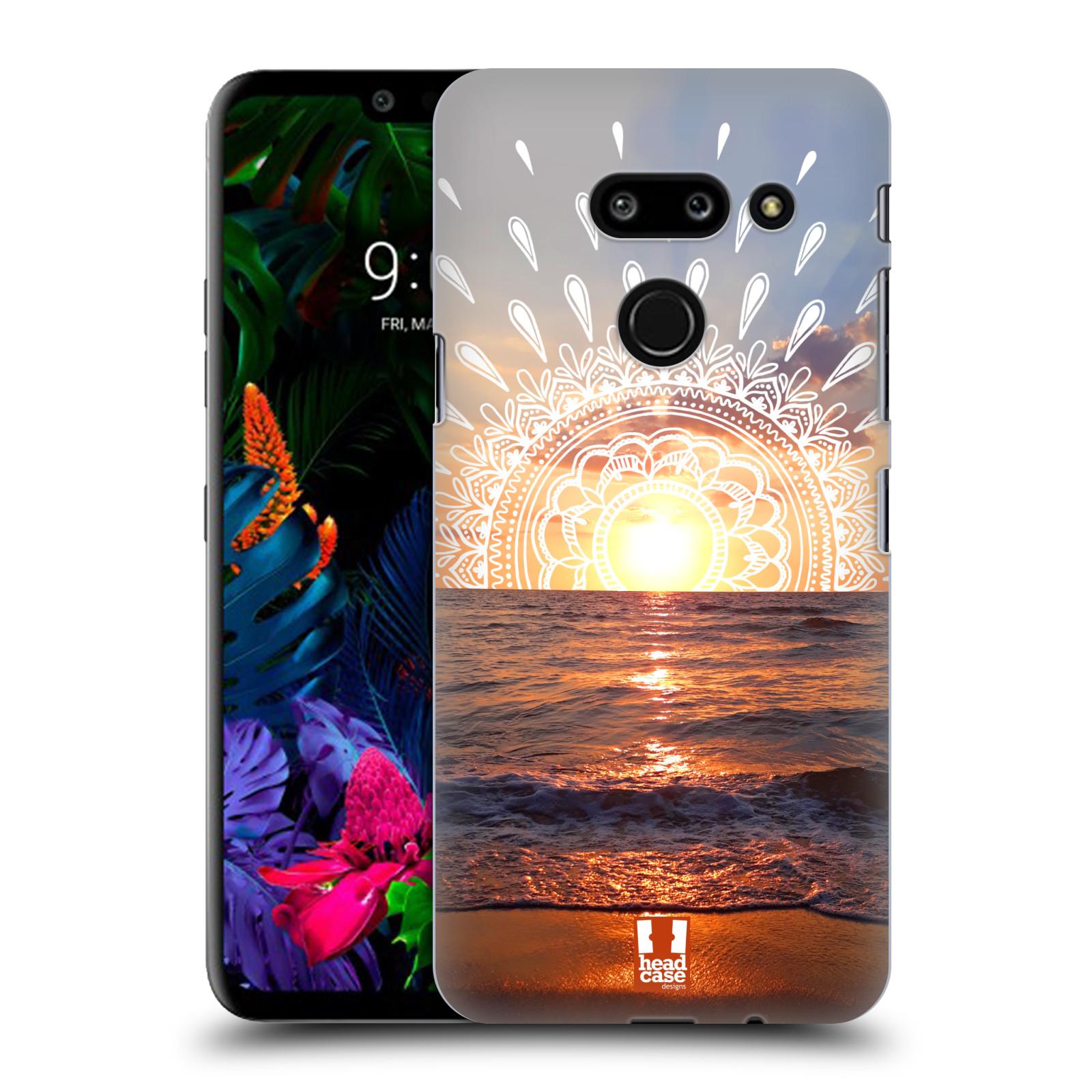 Pouzdro na mobil LG G8 ThinQ - HEAD CASE - doodle západ slunce