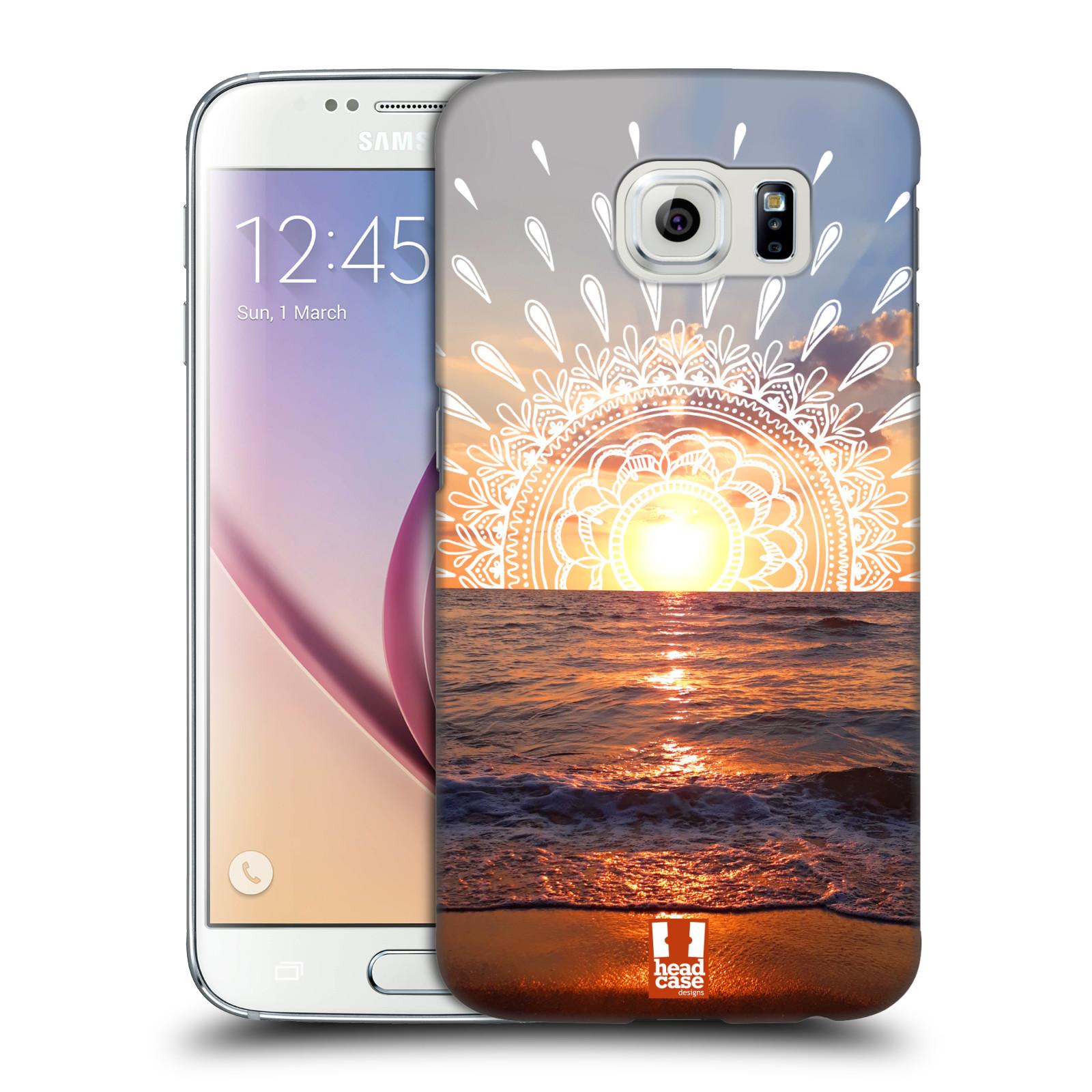 Pouzdro na mobil Samsung Galaxy S6 - HEAD CASE - doodle západ slunce