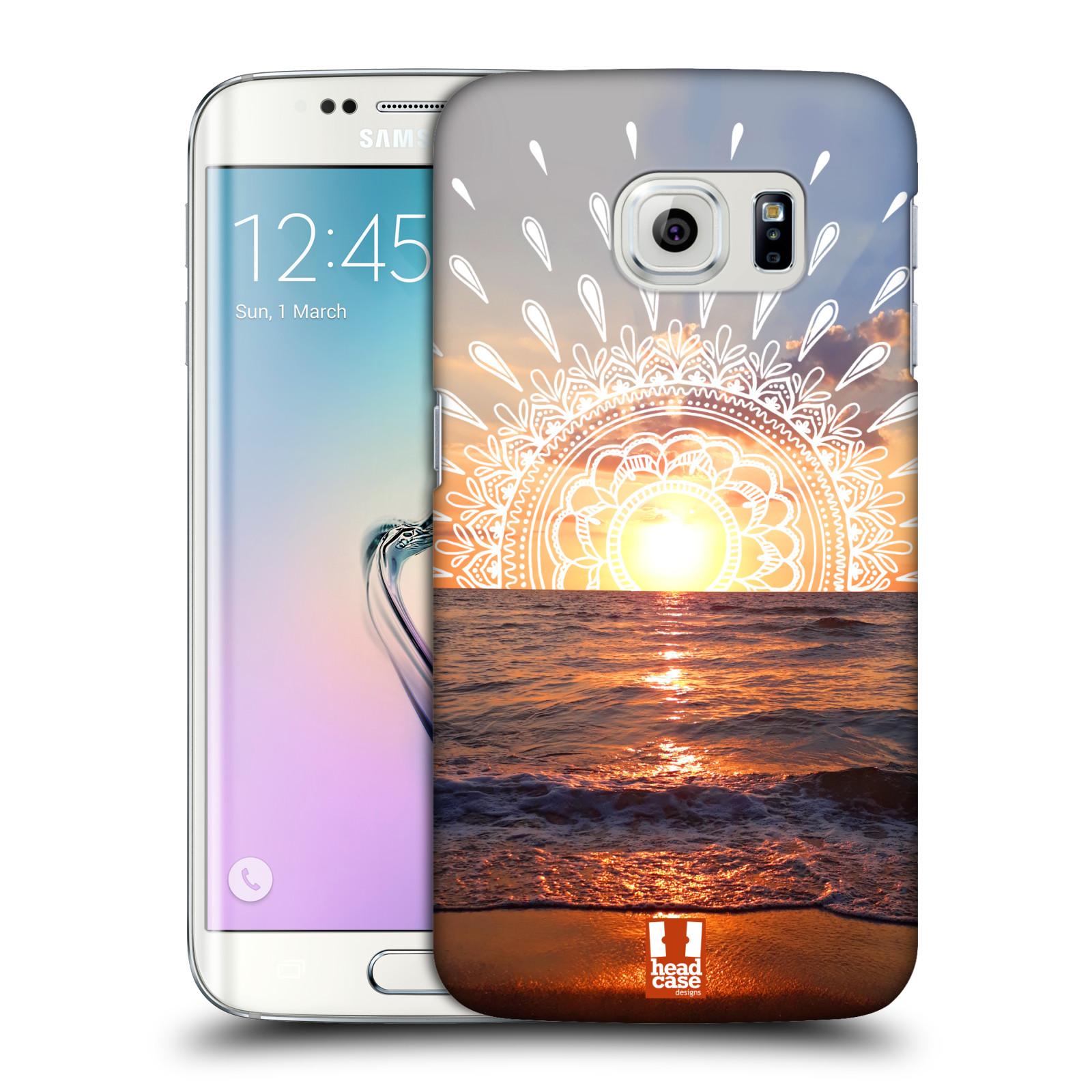 Pouzdro na mobil Samsung Galaxy S6 EDGE - HEAD CASE - doodle západ slunce