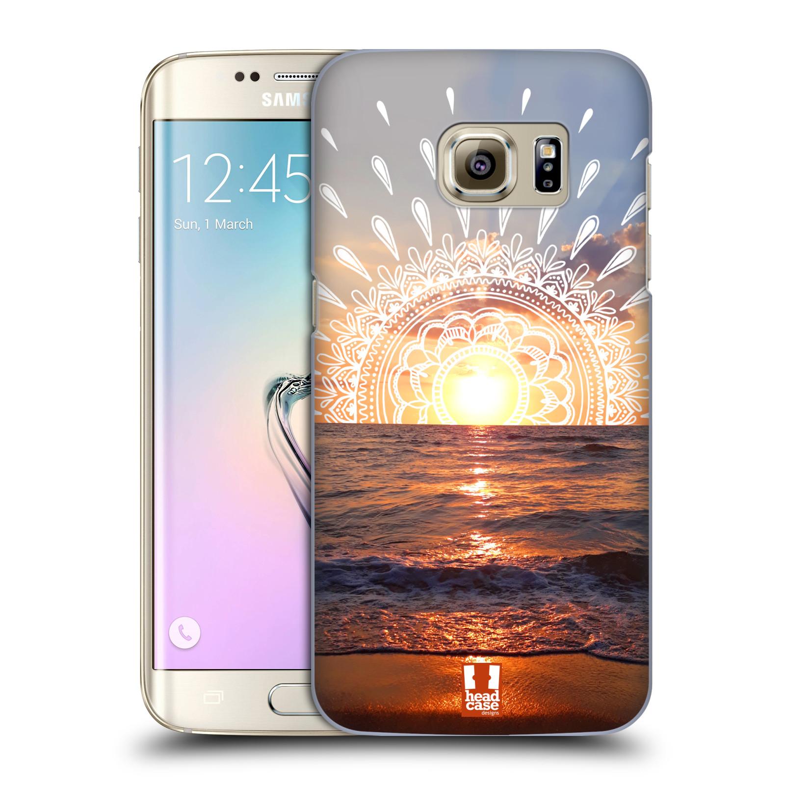 Pouzdro na mobil Samsung Galaxy S7 EDGE - HEAD CASE - doodle západ slunce