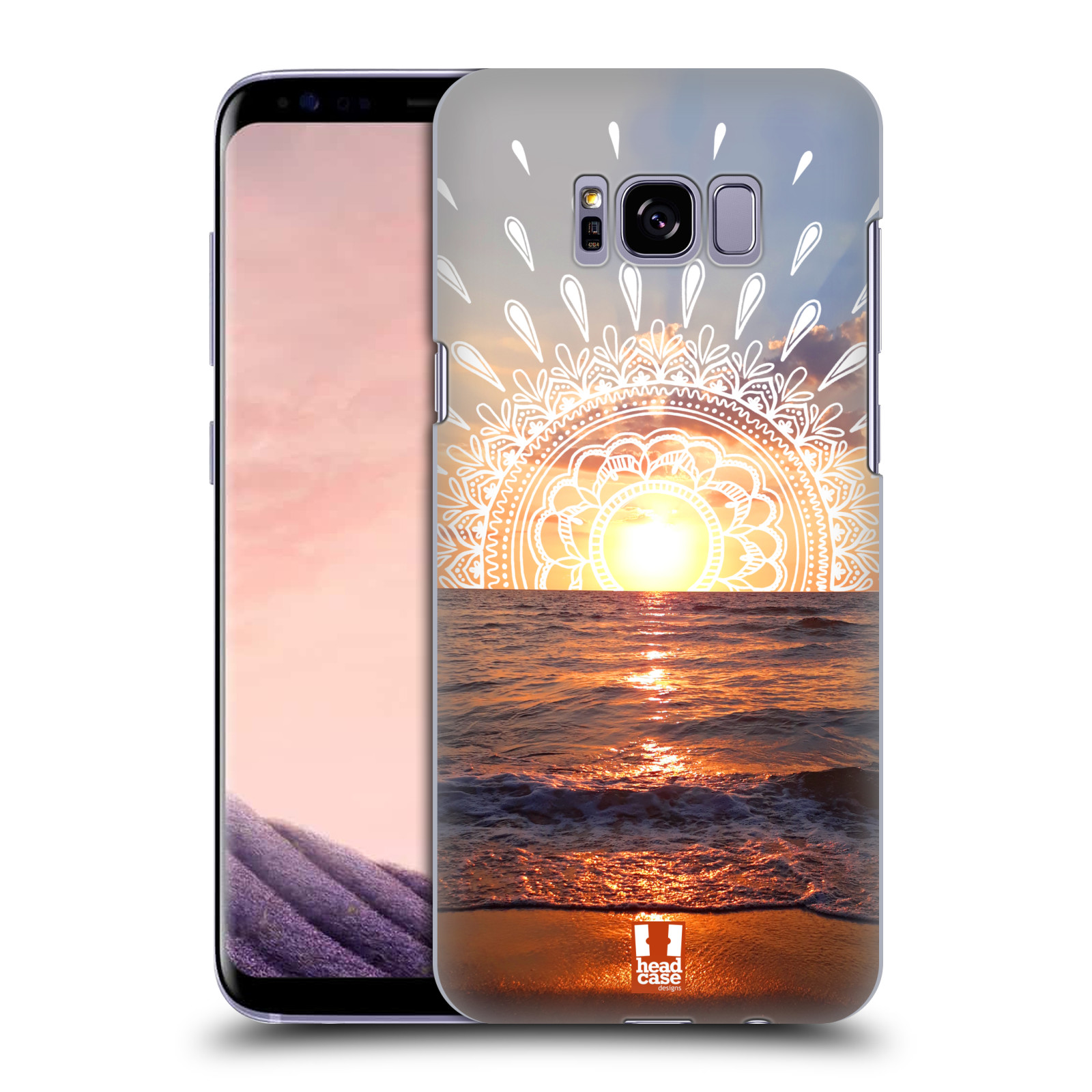 Pouzdro na mobil Samsung Galaxy S8 PLUS - HEAD CASE - doodle západ slunce