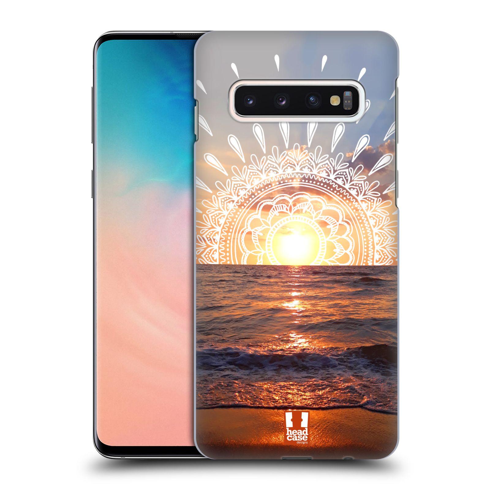 Pouzdro na mobil Samsung Galaxy S10 - HEAD CASE - doodle západ slunce