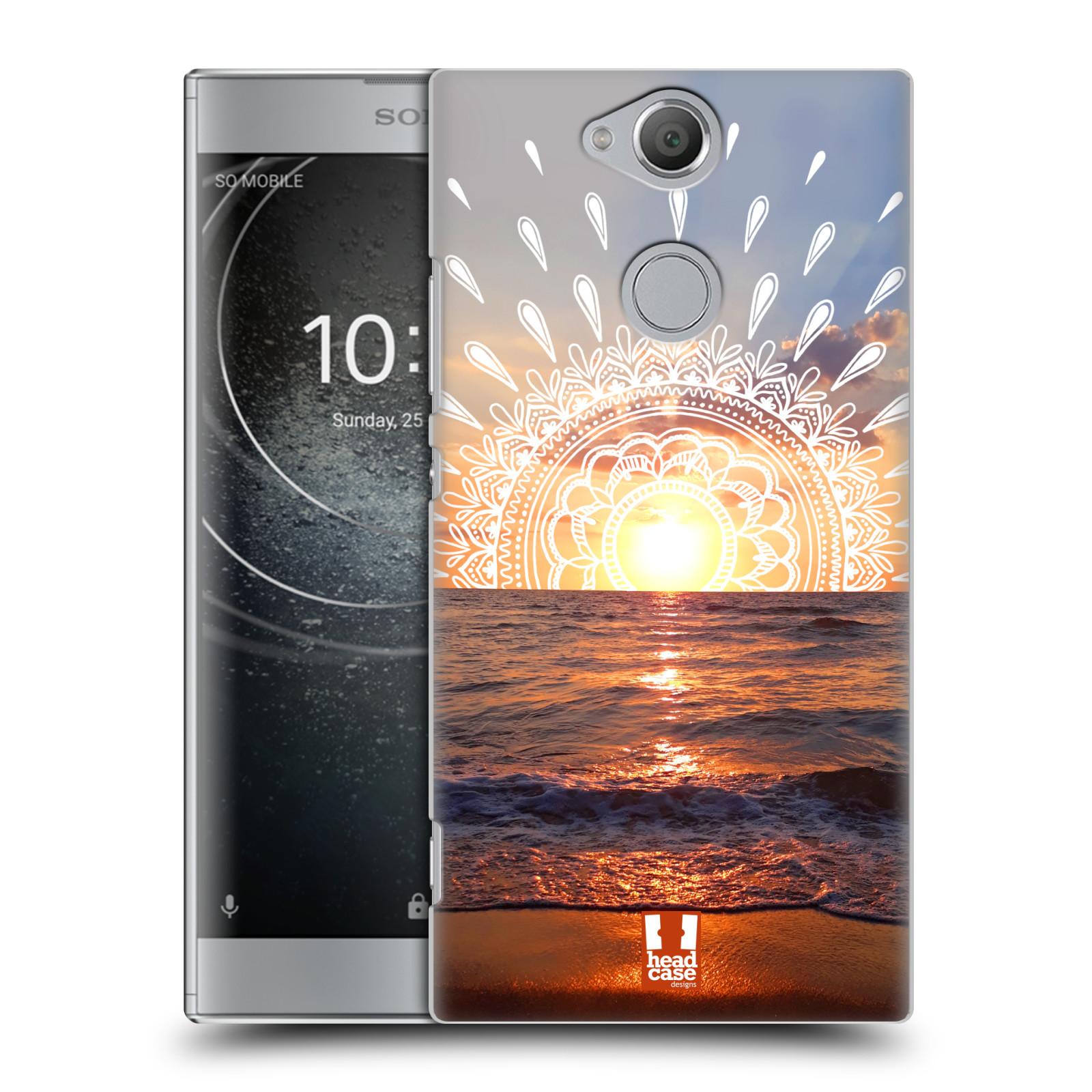 Pouzdro na mobil Sony Xperia XA2 - HEAD CASE - doodle západ slunce