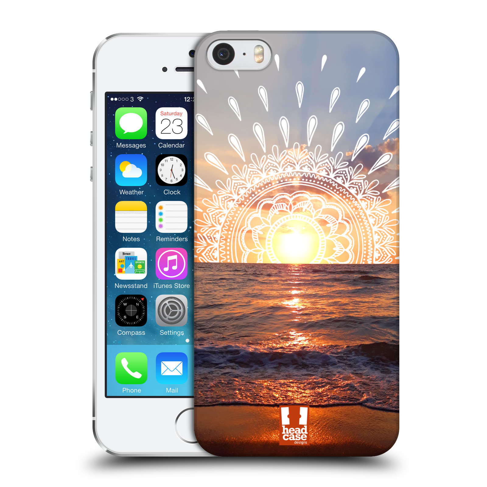 Pouzdro na mobil Apple Iphone 5/5S - HEAD CASE - doodle západ slunce