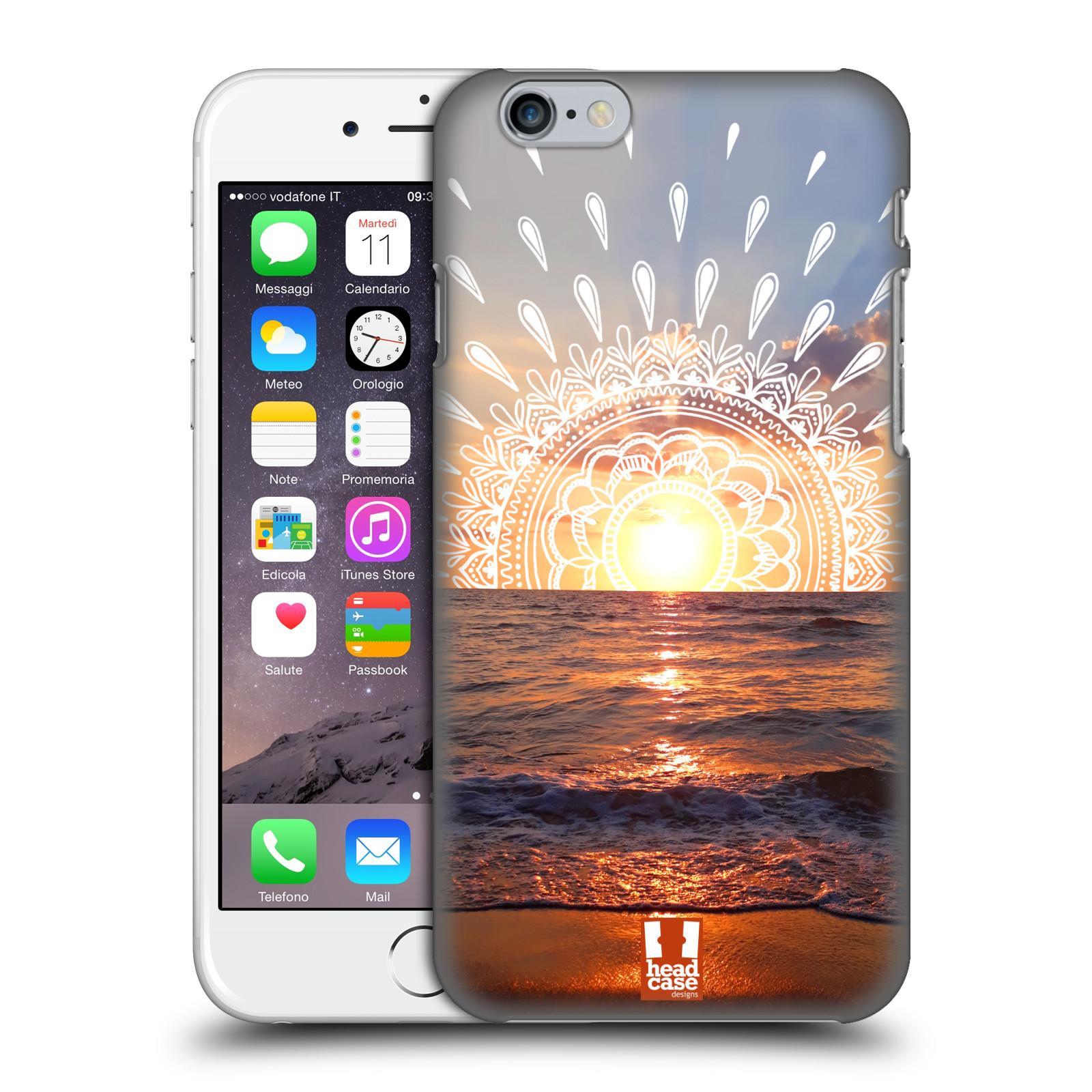 Pouzdro na mobil Apple Iphone 6/6S - HEAD CASE - doodle západ slunce