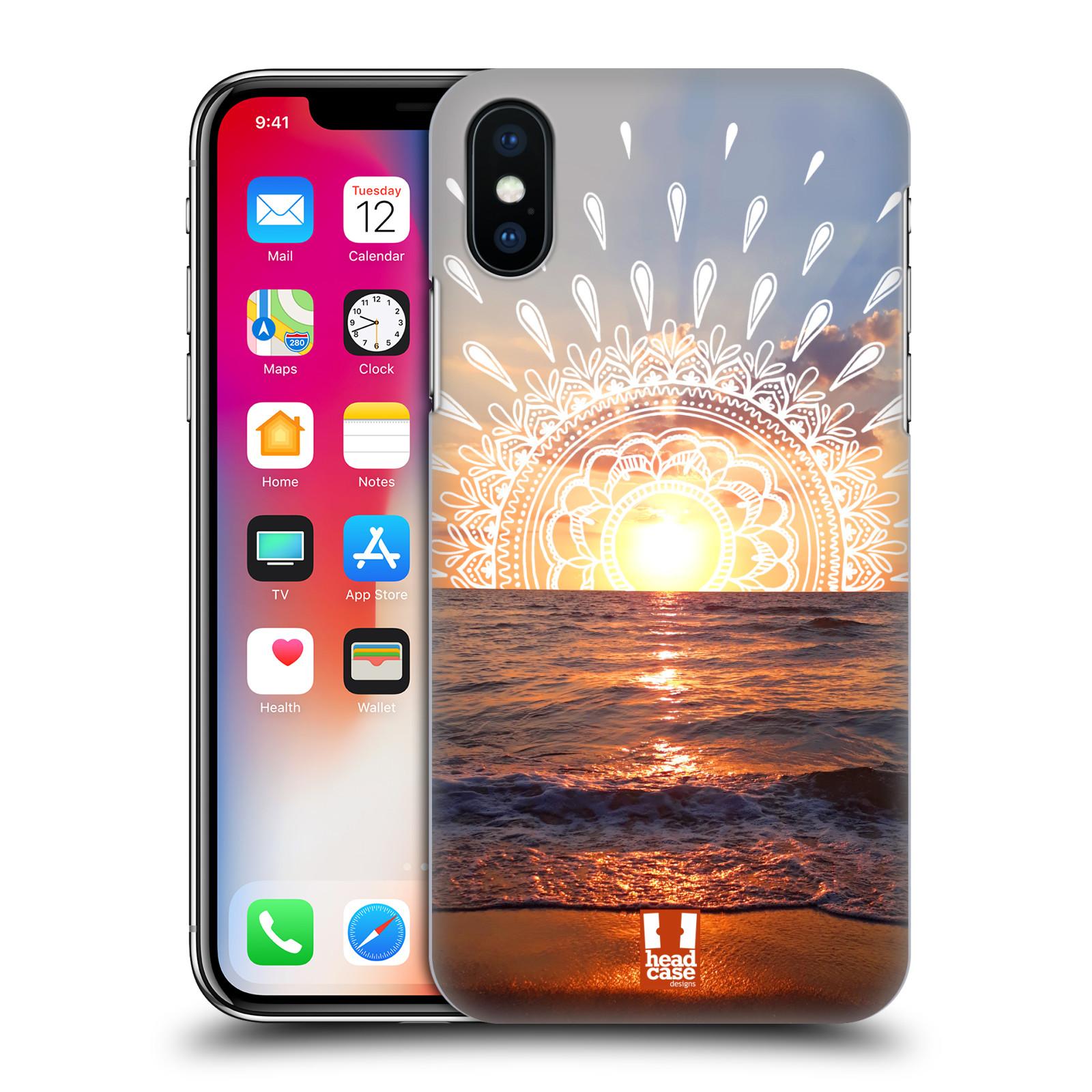 Pouzdro na mobil Apple Iphone X/XS - HEAD CASE - doodle západ slunce