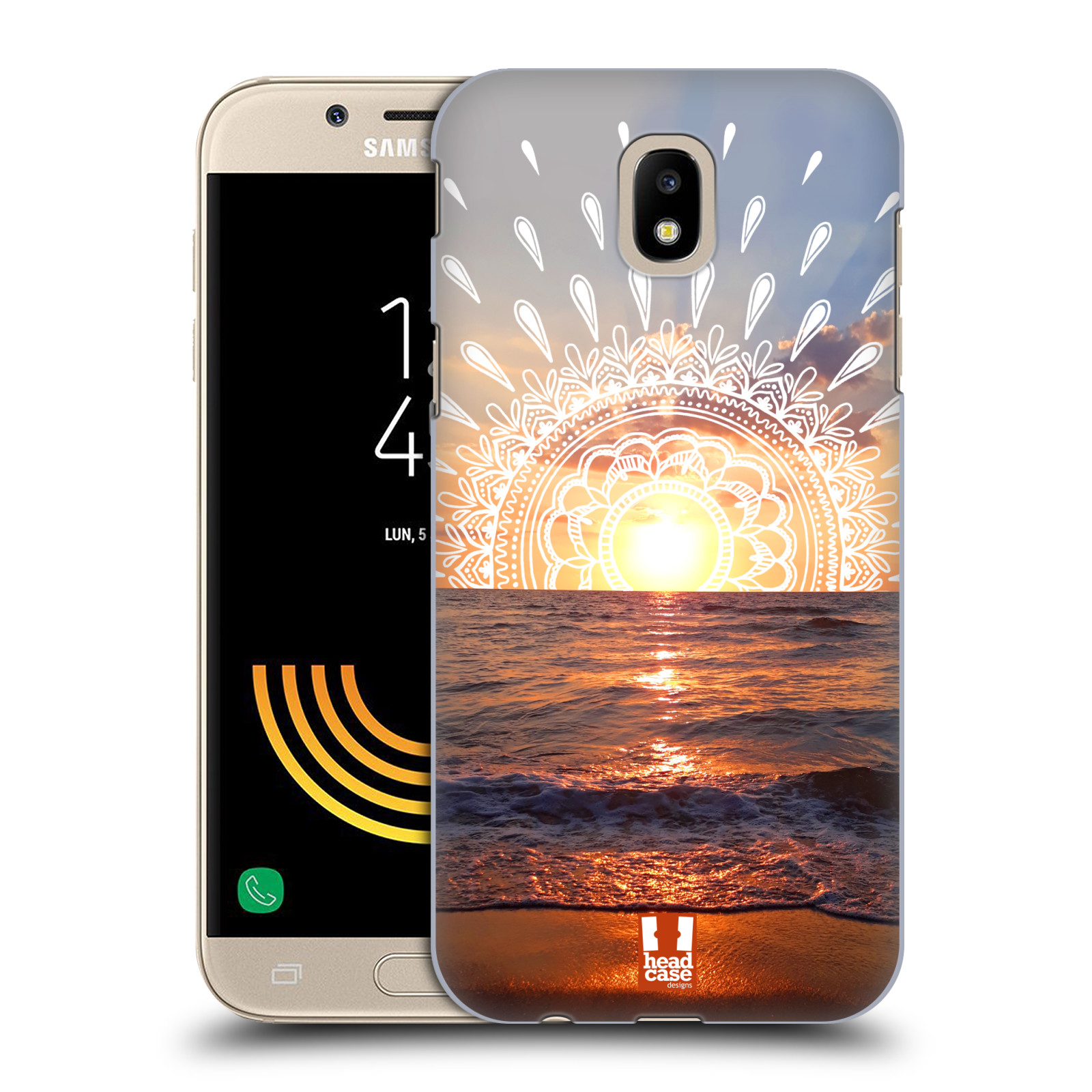 Pouzdro na mobil Samsung Galaxy J5 2017 - HEAD CASE - doodle západ slunce