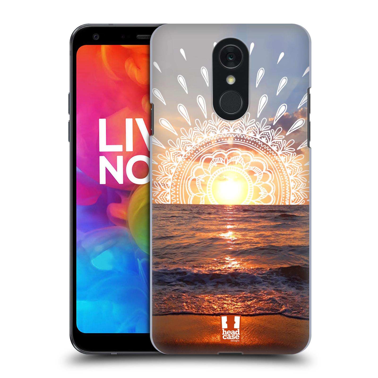 Pouzdro na mobil LG Q7 - HEAD CASE - doodle západ slunce