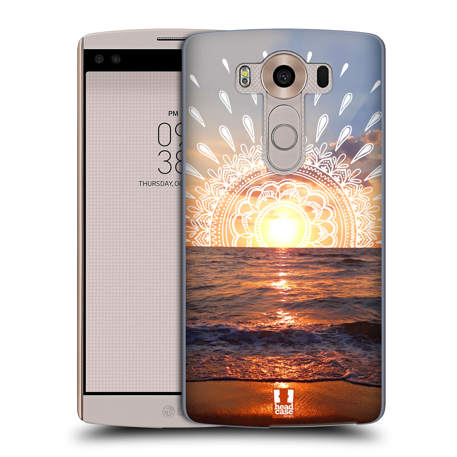 Pouzdro na mobil LG V10 - HEAD CASE - doodle západ slunce