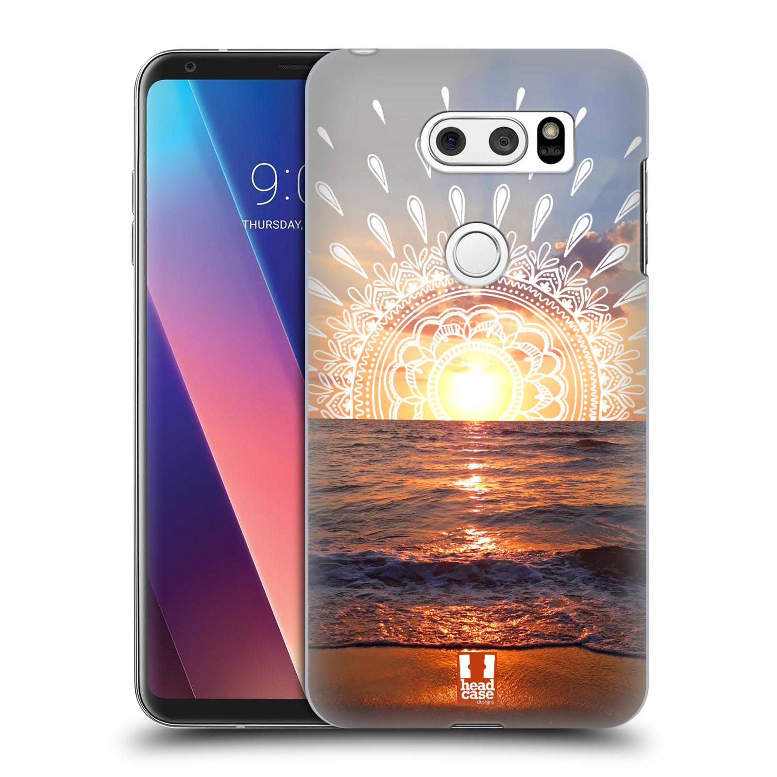 Pouzdro na mobil LG V30 - HEAD CASE - doodle západ slunce