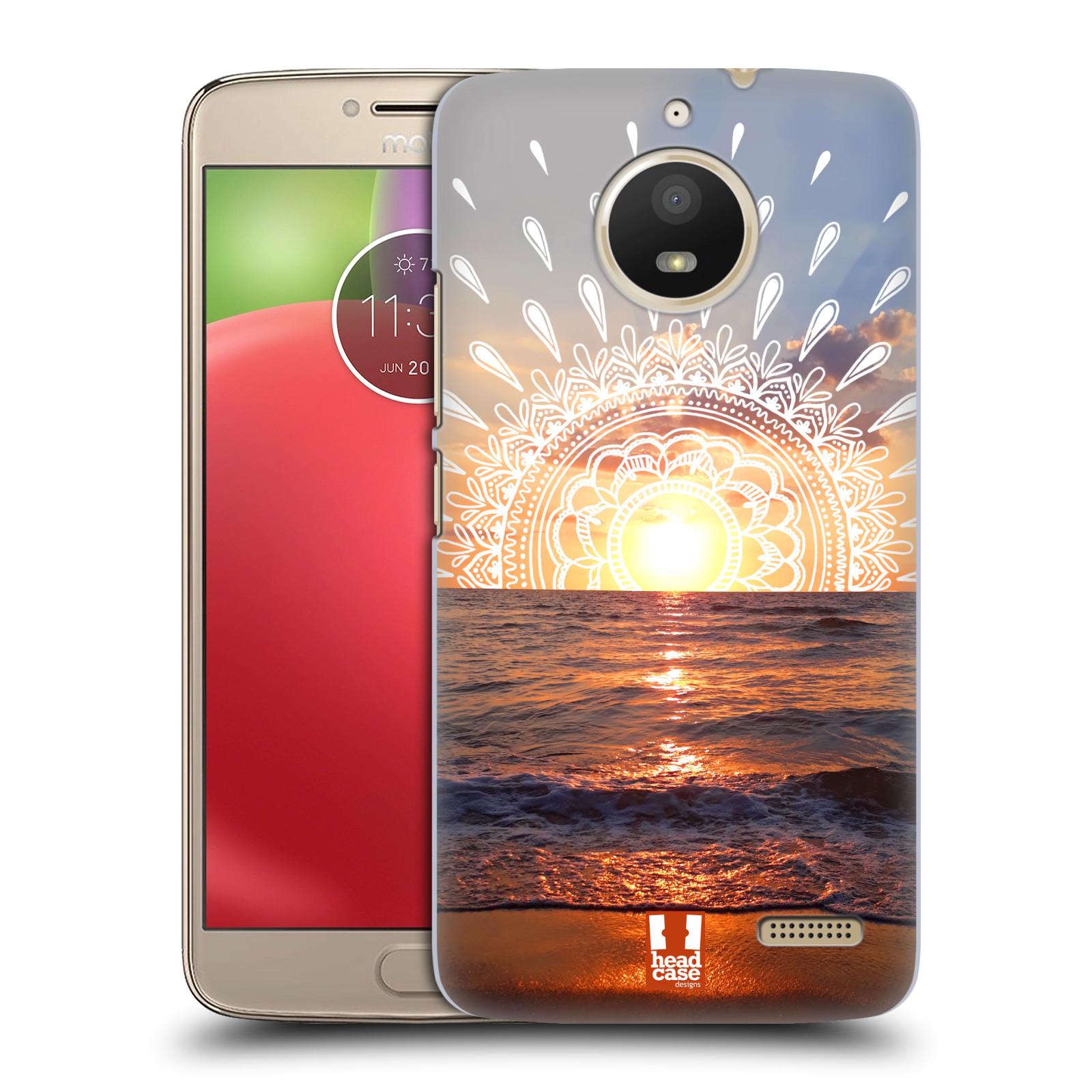 Pouzdro na mobil Lenovo Moto E4 - HEAD CASE - doodle západ slunce