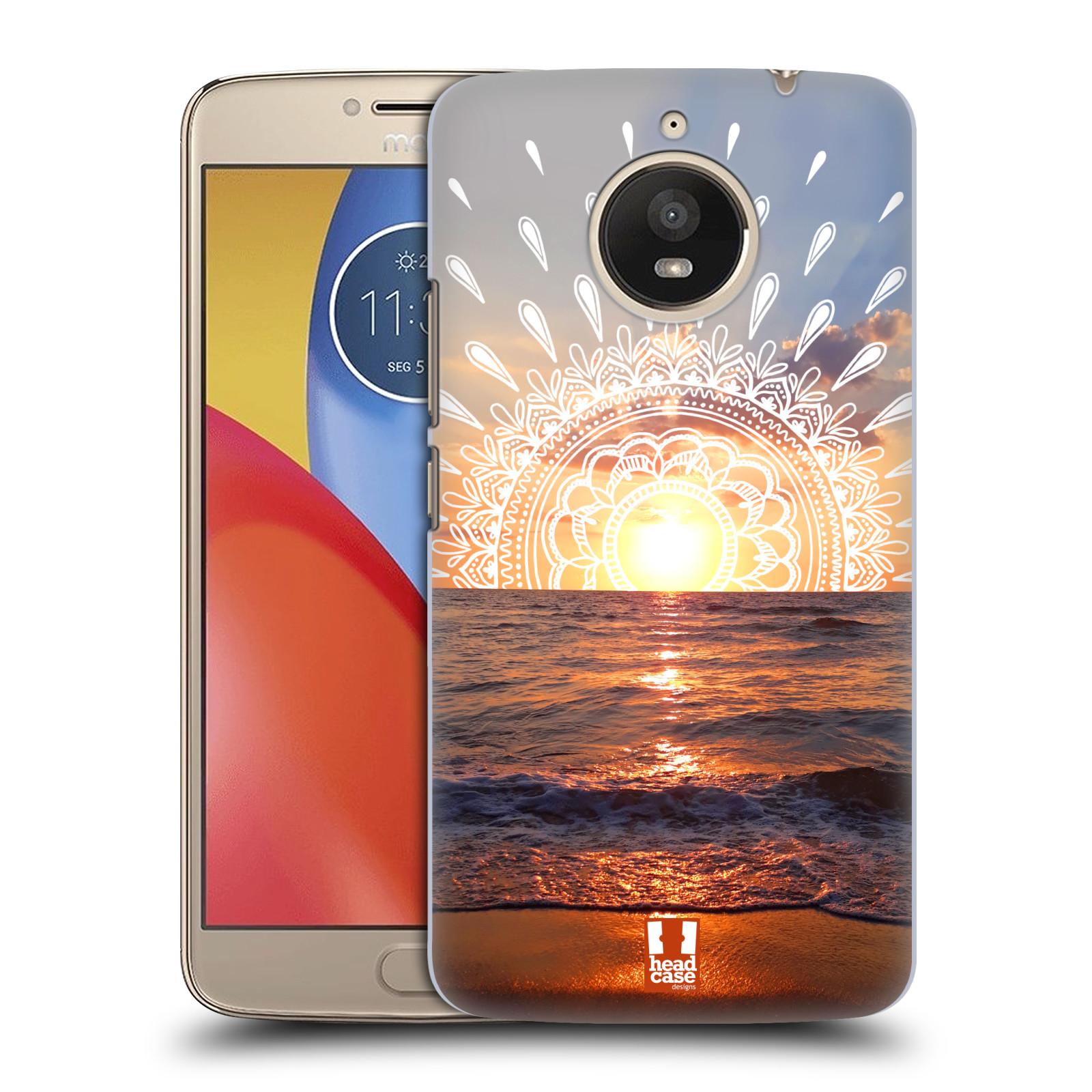 Pouzdro na mobil Lenovo Moto E4 PLUS - HEAD CASE - doodle západ slunce