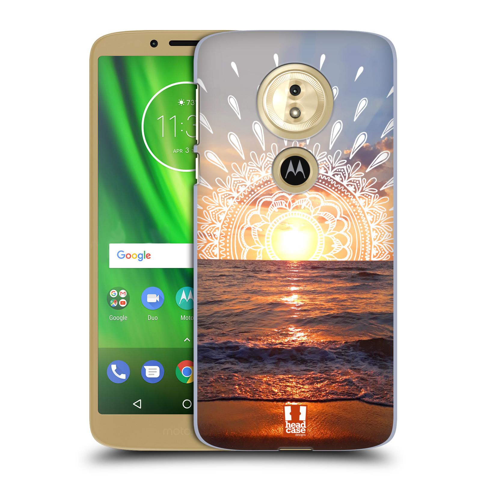 Pouzdro na mobil Motorola Moto E5 - HEAD CASE - doodle západ slunce