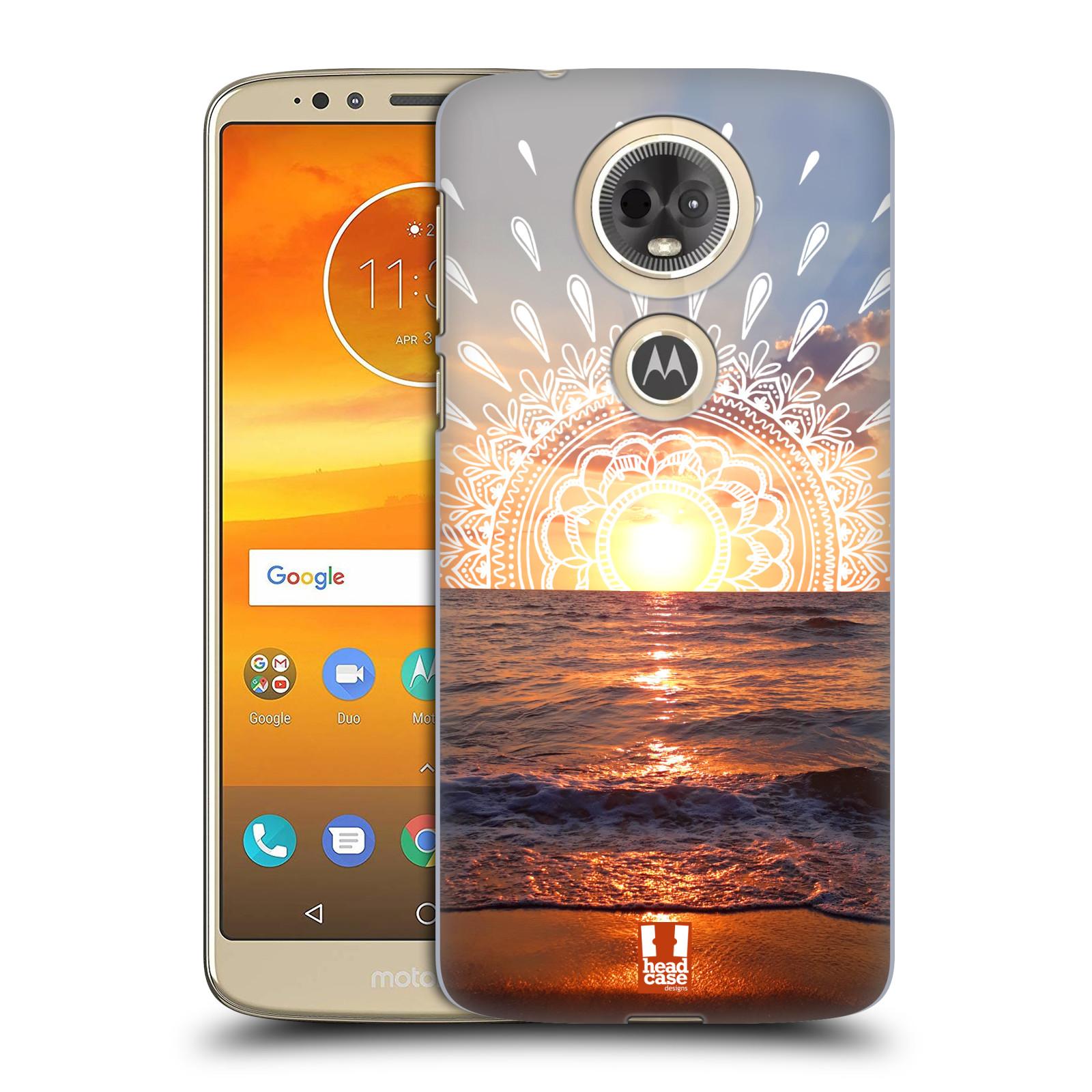 Pouzdro na mobil Motorola Moto E5 PLUS - HEAD CASE - doodle západ slunce