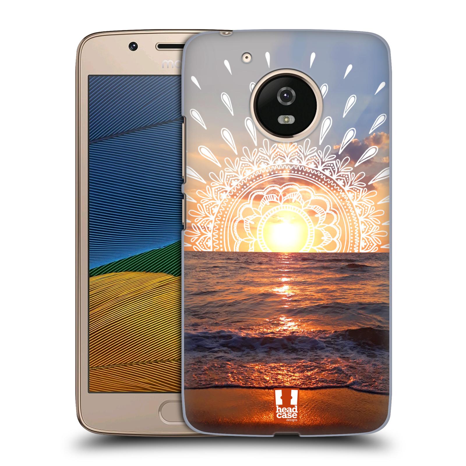 Pouzdro na mobil Lenovo Moto G5 - HEAD CASE - doodle západ slunce