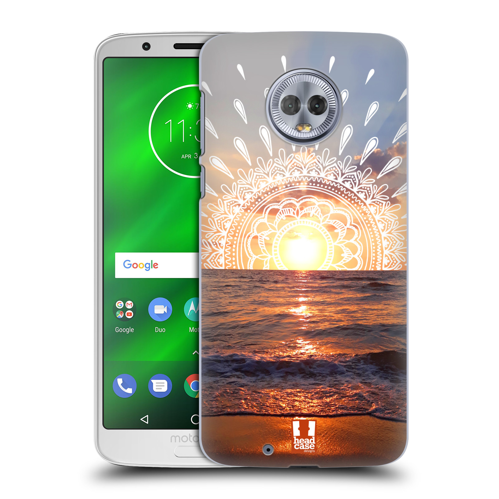 Pouzdro na mobil Motorola Moto G6 - HEAD CASE - doodle západ slunce