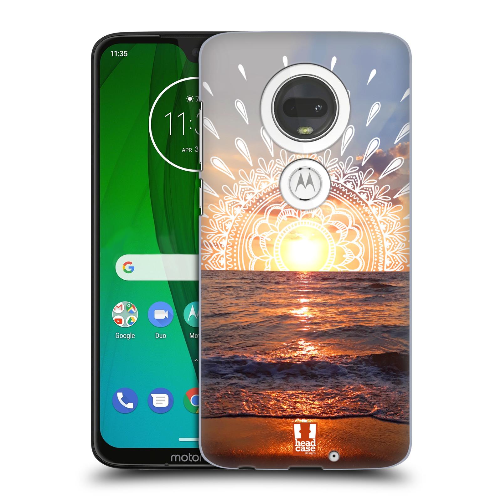 Pouzdro na mobil Motorola Moto G7 - HEAD CASE - doodle západ slunce