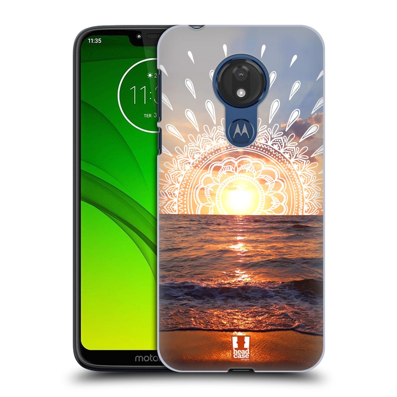 Pouzdro na mobil Motorola Moto G7 POWER - HEAD CASE - doodle západ slunce