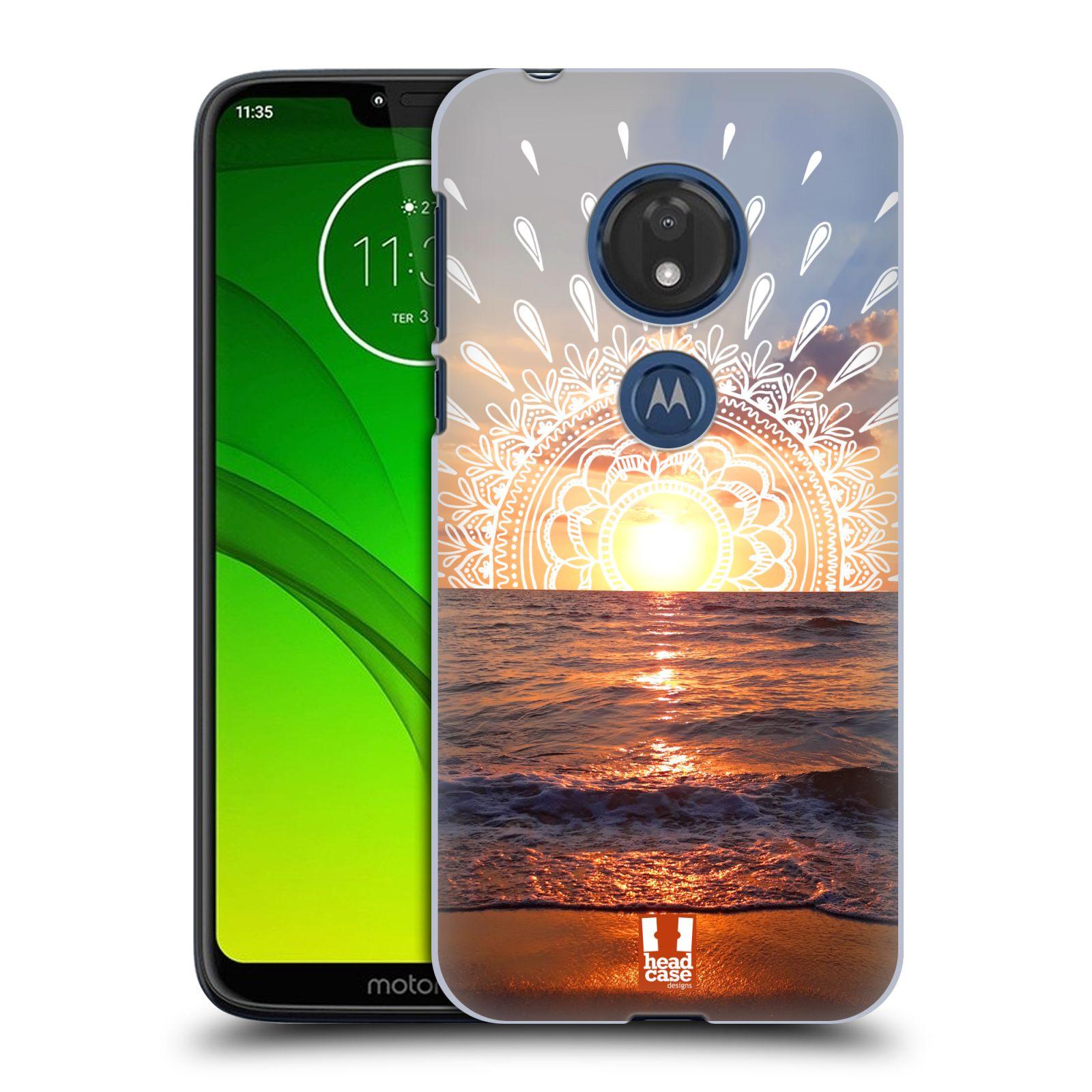 Pouzdro na mobil Motorola Moto G7 Play - HEAD CASE - doodle západ slunce