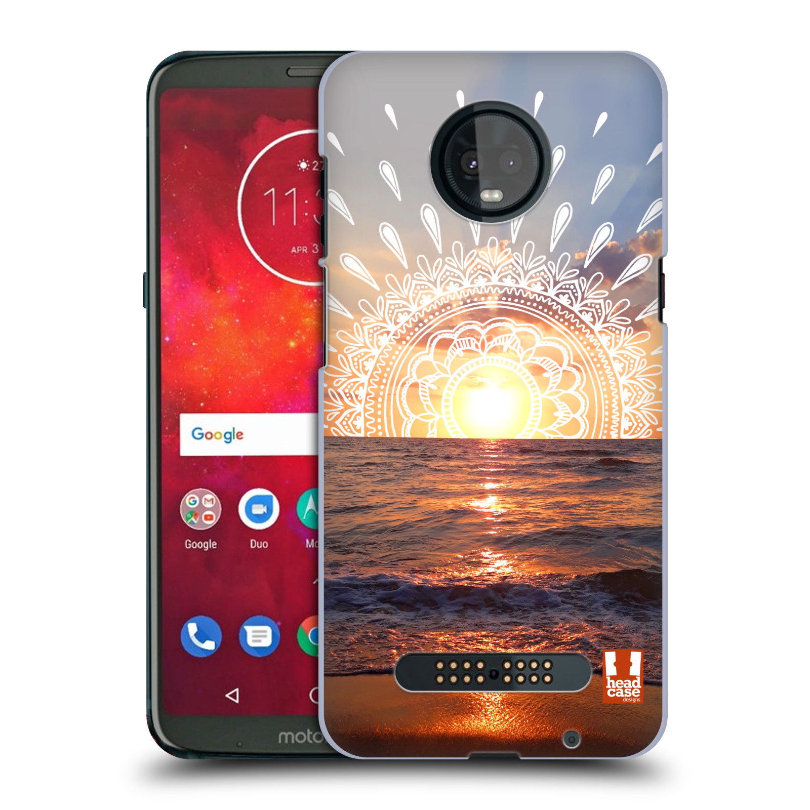 Pouzdro na mobil Motorola Moto Z3 PLAY - HEAD CASE - doodle západ slunce