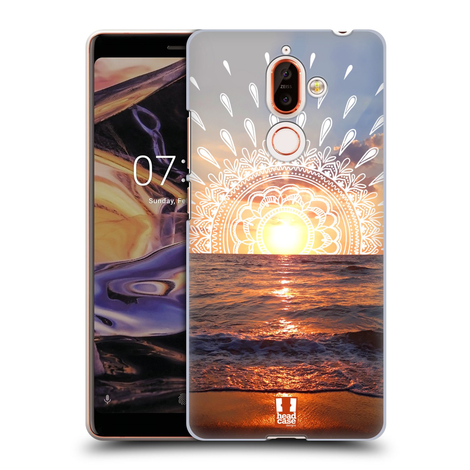 Pouzdro na mobil Nokia 7 PLUS - HEAD CASE - doodle západ slunce