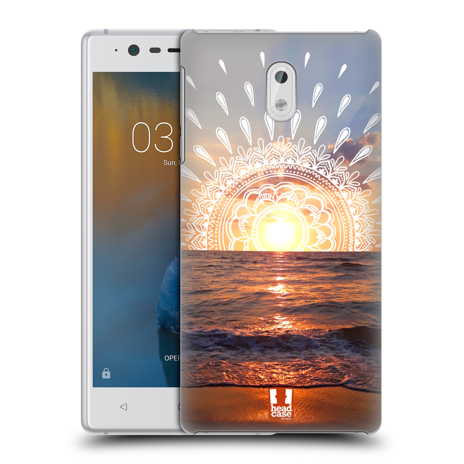 Pouzdro na mobil Nokia 3 - HEAD CASE - doodle západ slunce