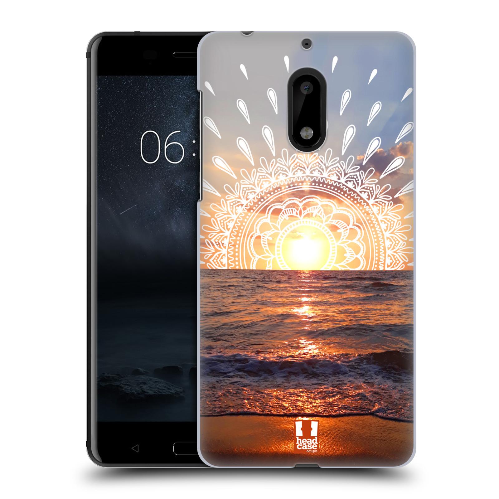 Pouzdro na mobil Nokia 6 - HEAD CASE - doodle západ slunce