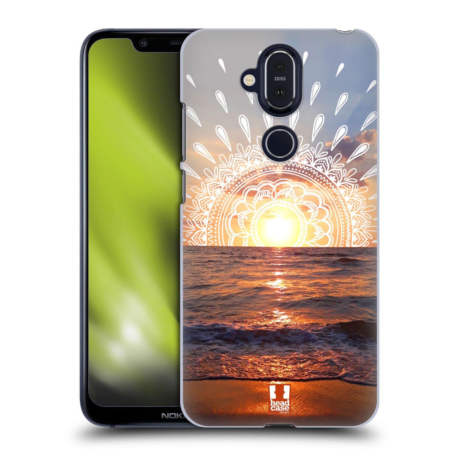 Pouzdro na mobil NOKIA 8.1 - HEAD CASE - doodle západ slunce