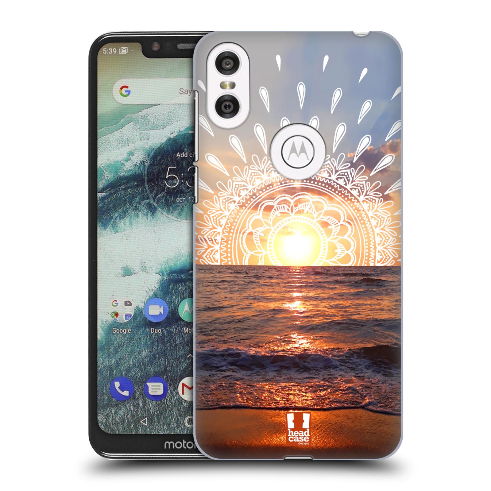 Pouzdro na mobil Motorola Moto ONE - HEAD CASE - doodle západ slunce
