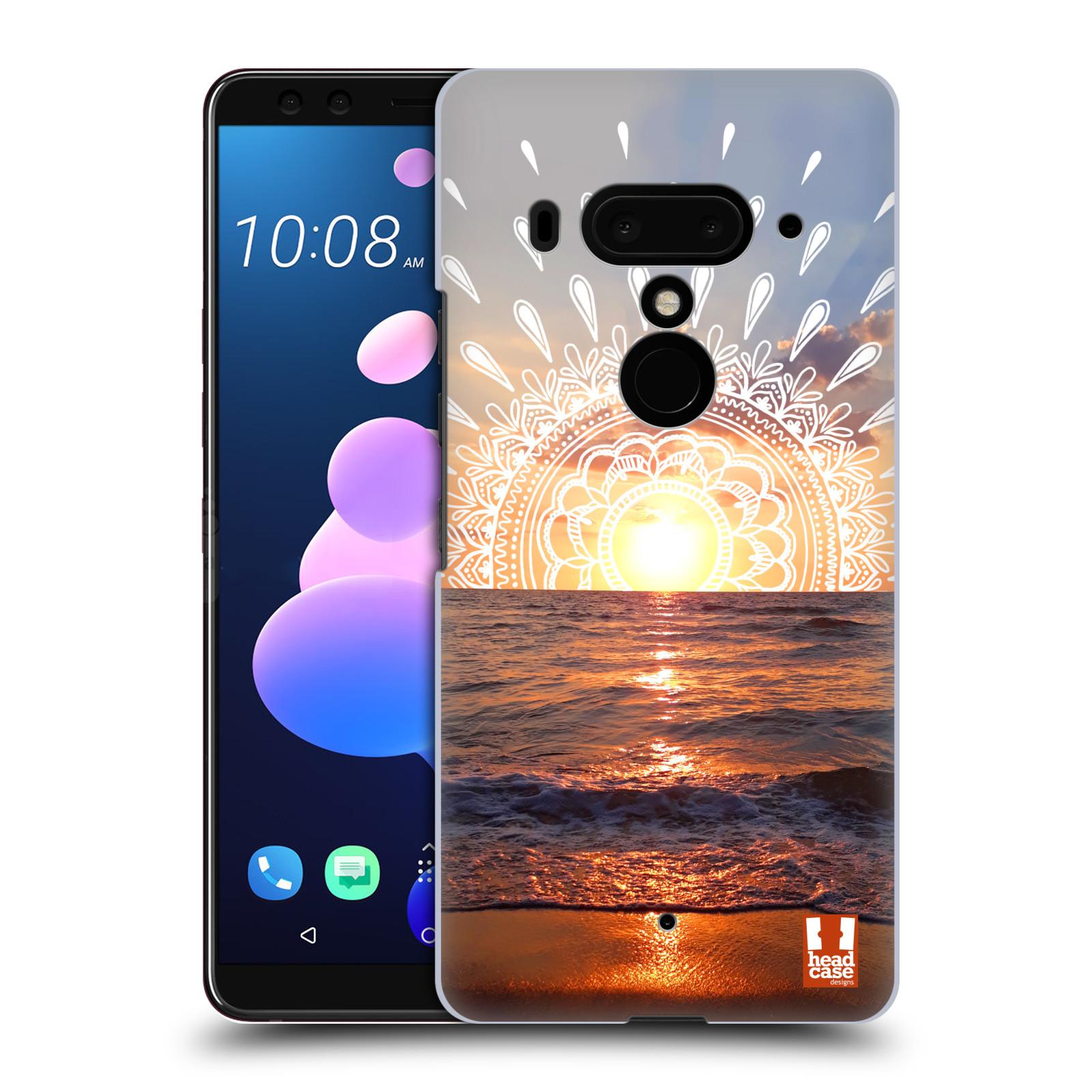 Pouzdro na mobil HTC U 12 PLUS / U 12+ DUAL SIM - HEAD CASE - doodle západ slunce