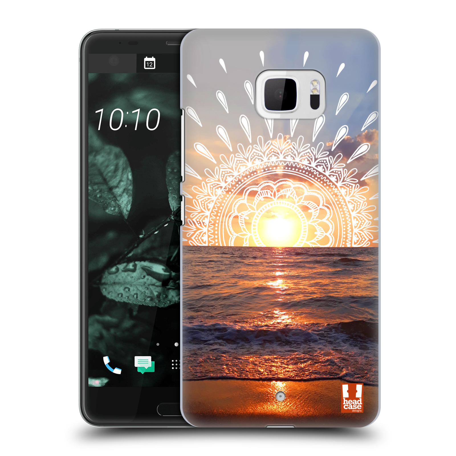Pouzdro na mobil HTC U Ultra - HEAD CASE - doodle západ slunce