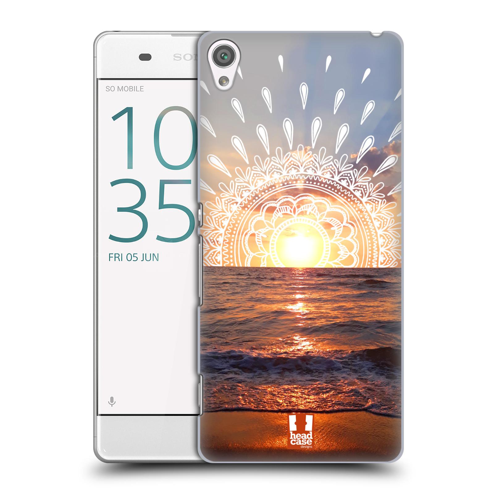 Pouzdro na mobil Sony Xperia XA - HEAD CASE - doodle západ slunce