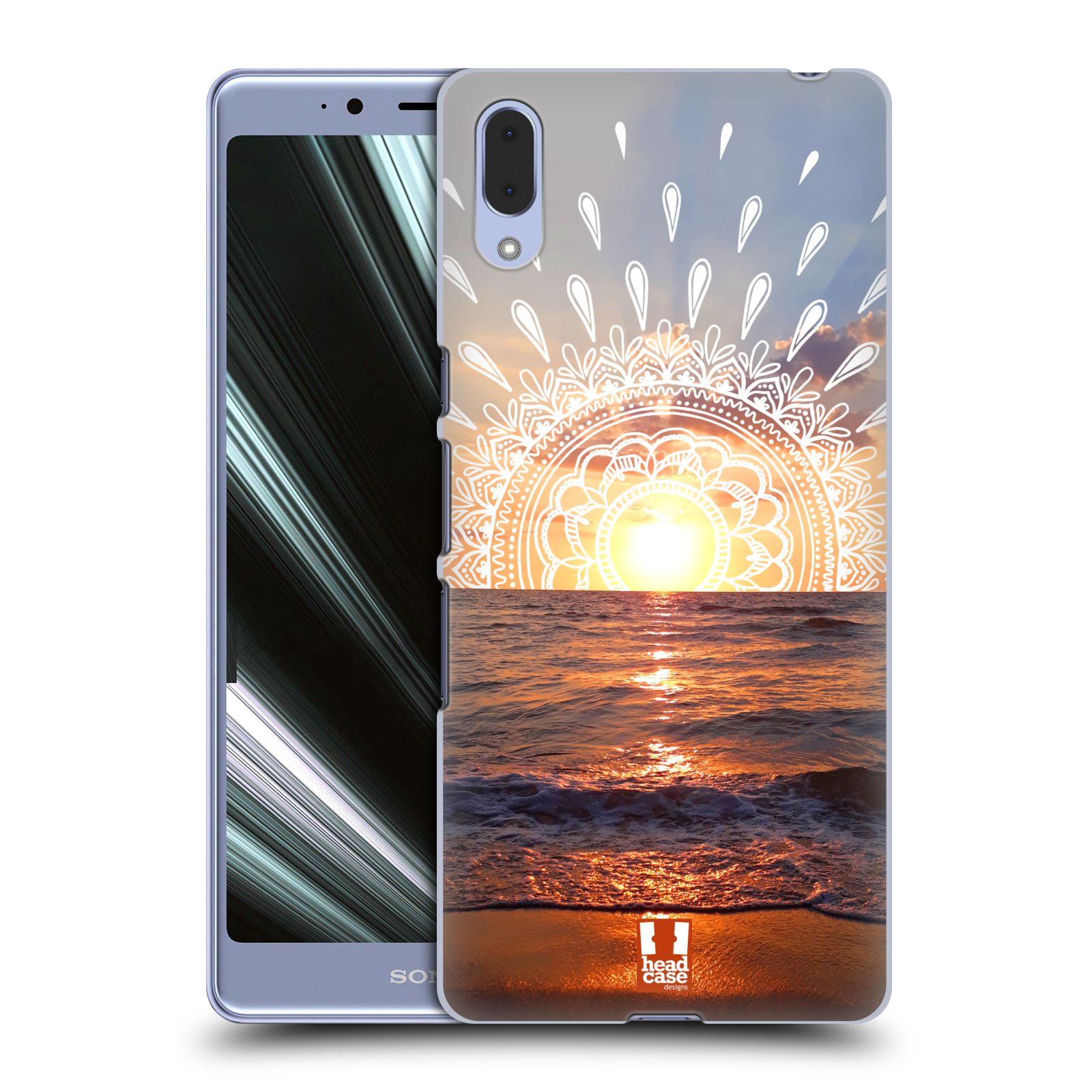 Pouzdro na mobil Sony Xperia L3 - HEAD CASE - doodle západ slunce