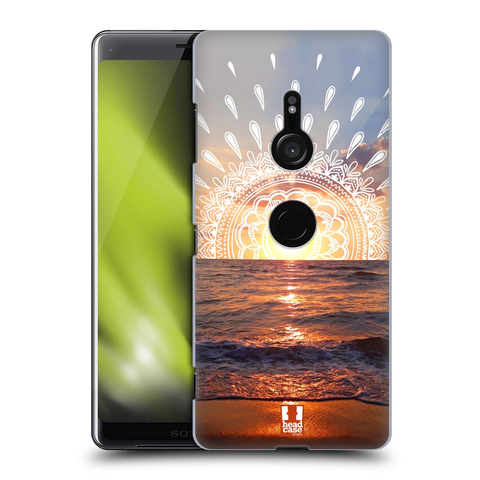 Pouzdro na mobil Sony Xperia XZ3 - HEAD CASE - doodle západ slunce