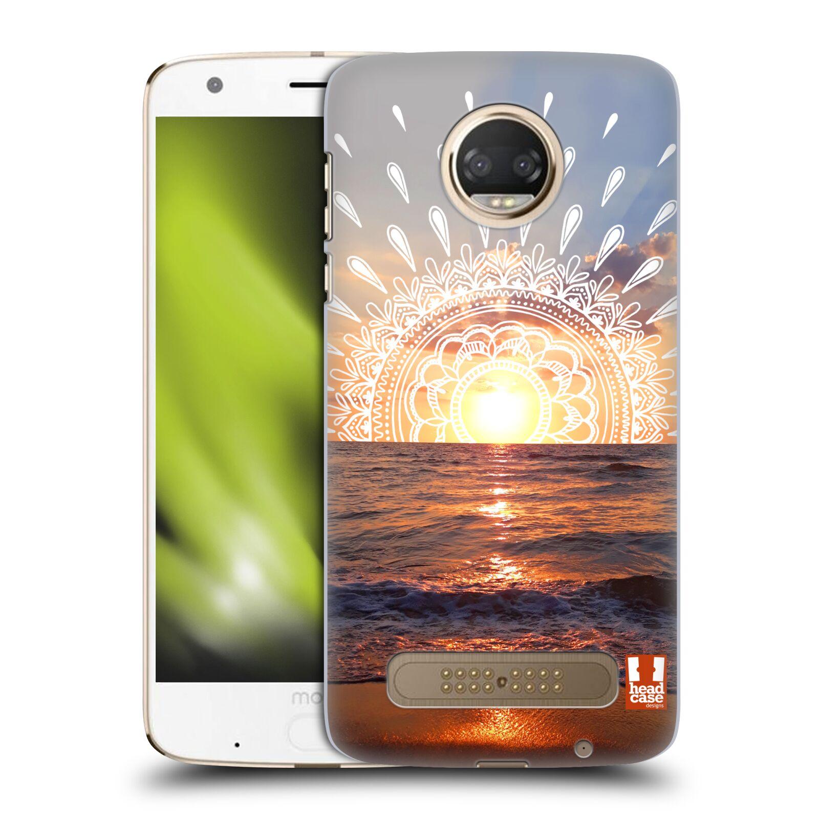 Pouzdro na mobil Motorola Moto Z2 PLAY - HEAD CASE - doodle západ slunce