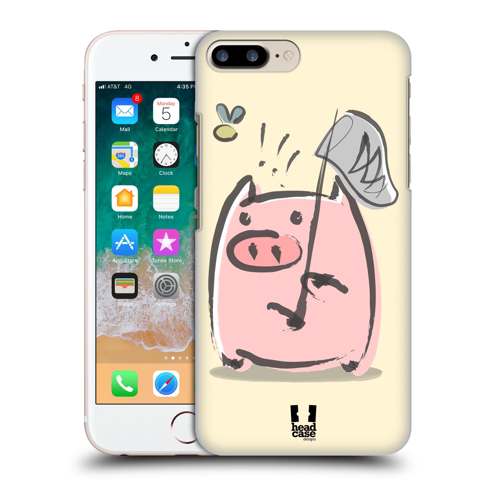 HEAD CASE plastový obal na mobil Apple Iphone 7 PLUS vzor roztomilé růžové prasátko na lovu